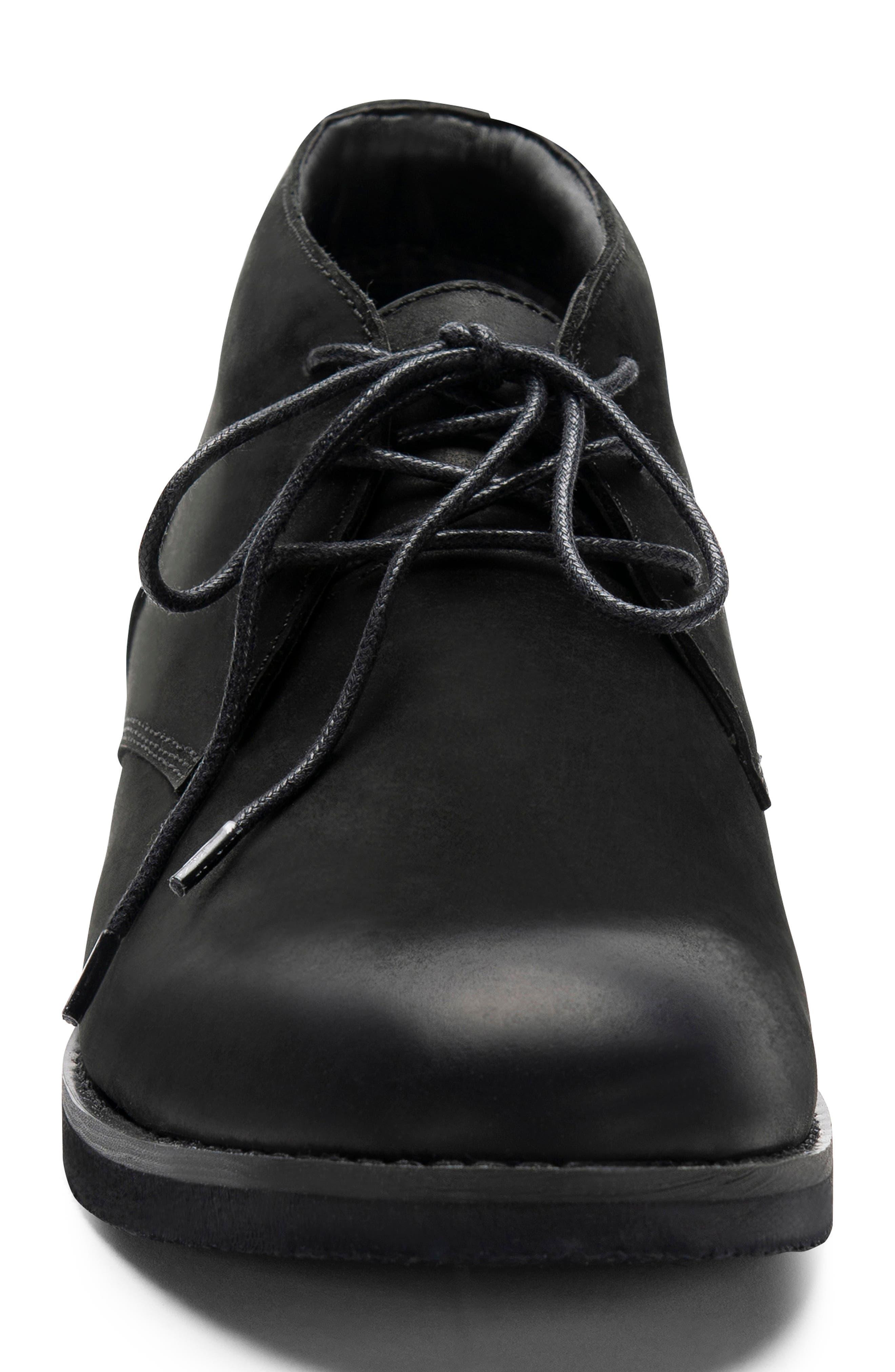 Gary Waterproof Chukka Boot,                             Alternate thumbnail 4, color,                             BLACK NUBUCK