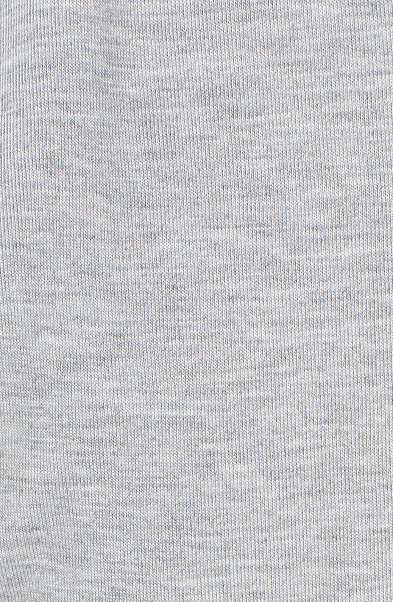 Crop Pajama Pants,                             Alternate thumbnail 5, color,                             LIGHT HEATHER GREY