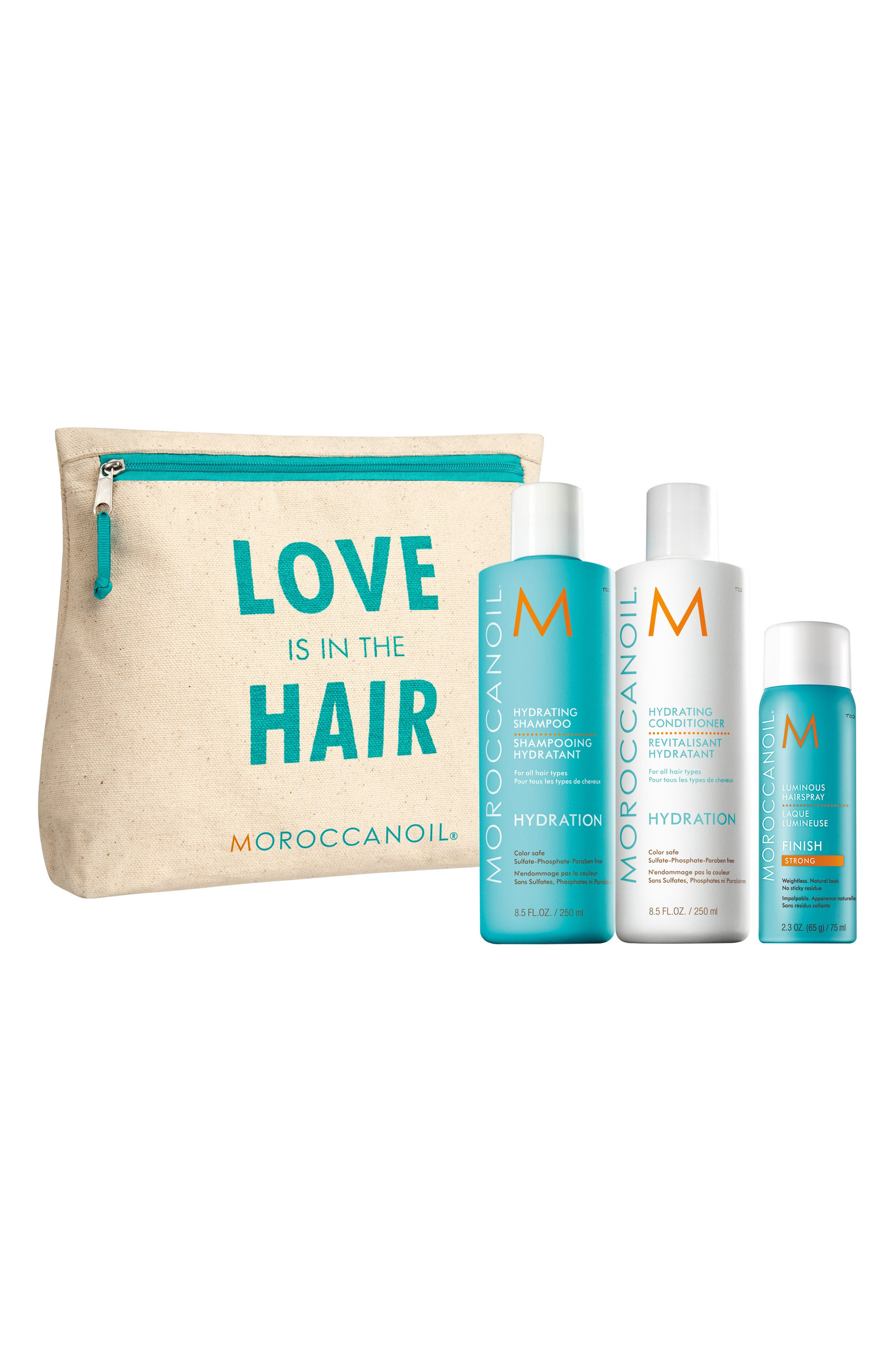 Love is in the Hair Hydration Set,                             Main thumbnail 1, color,                             000