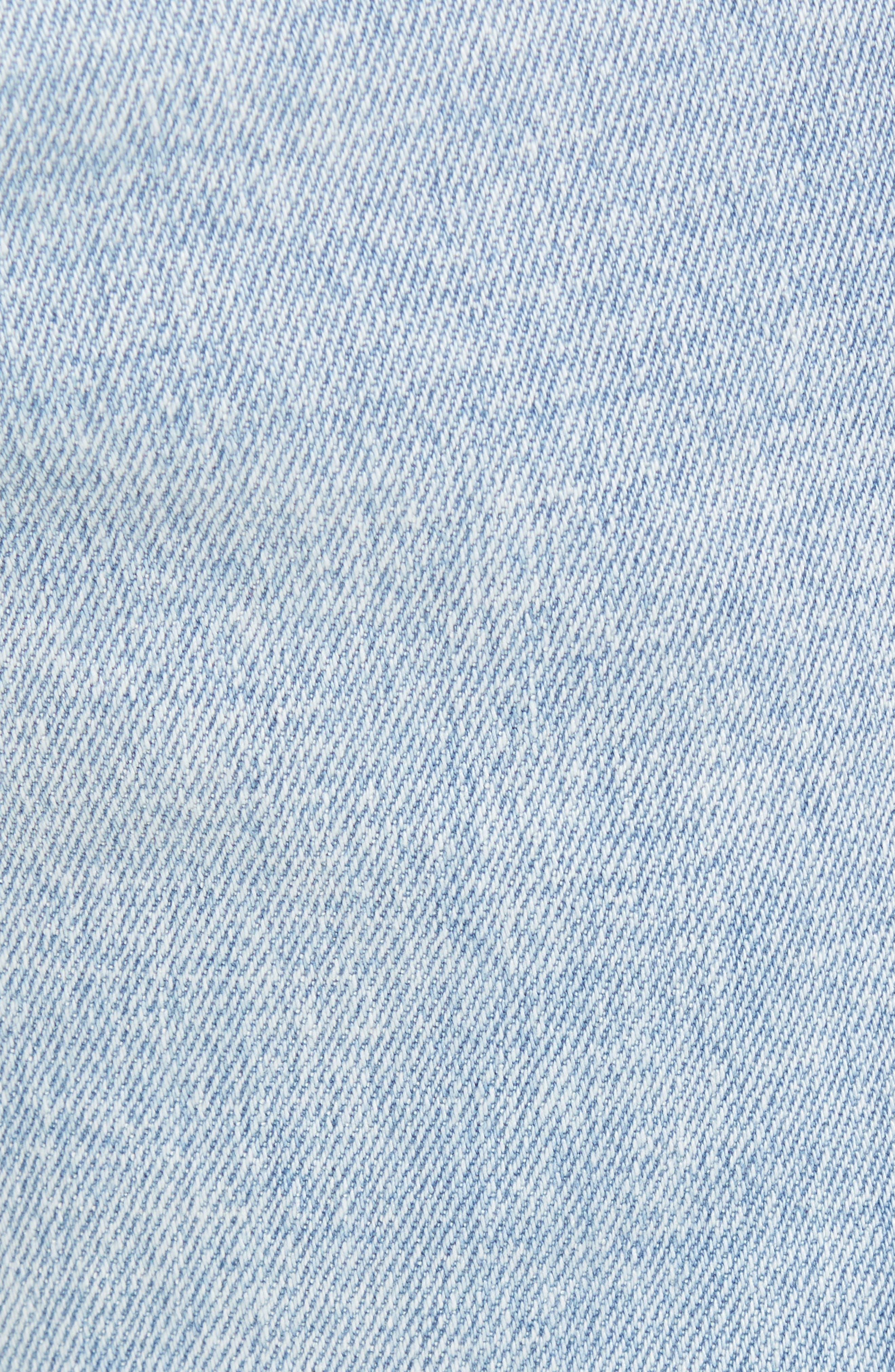 Acid Wash Stretch Slim Leg Jeans,                             Alternate thumbnail 5, color,                             BLUE VEDDER WASH