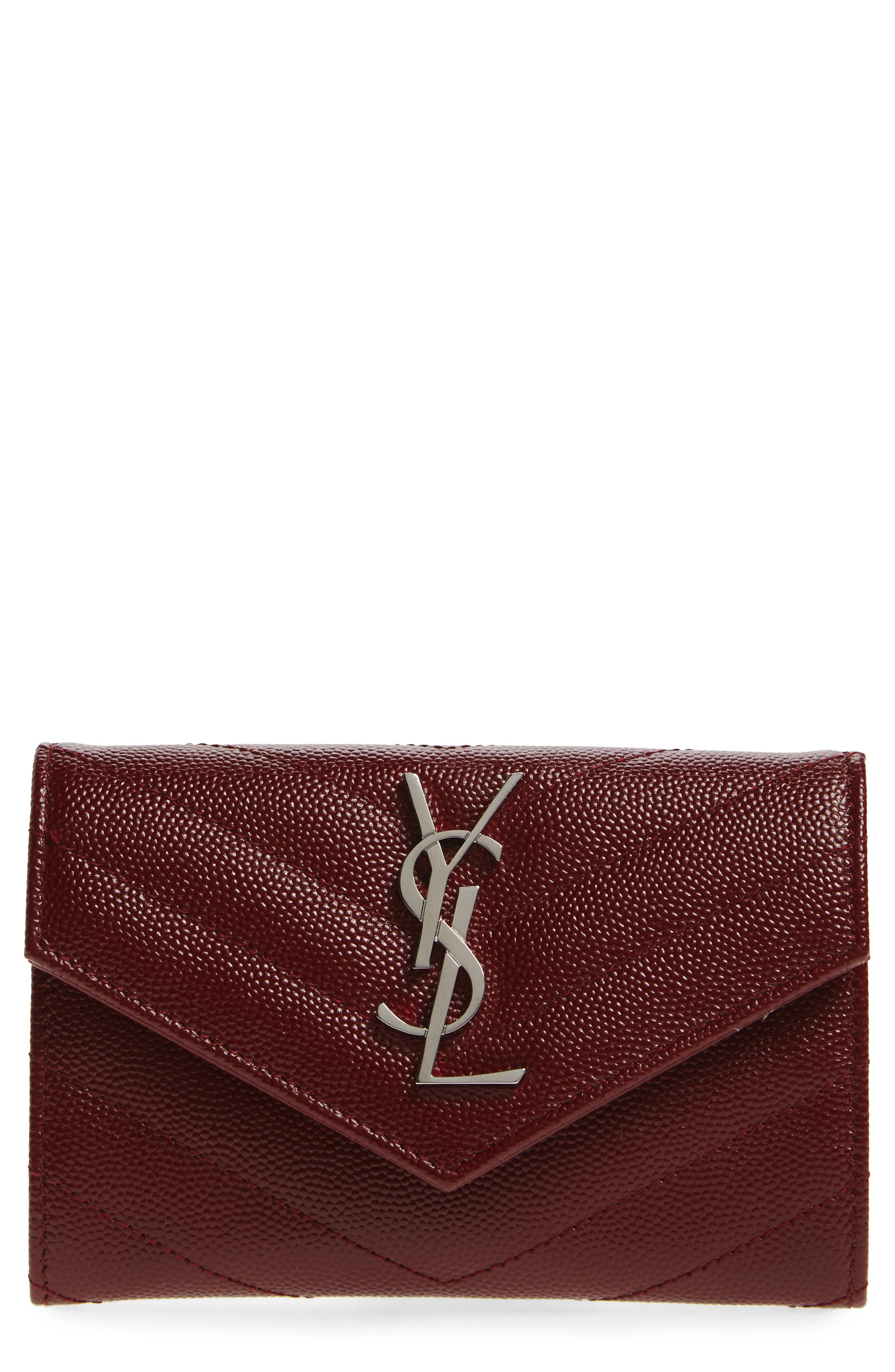 'Small Monogram' Leather French Wallet,                             Main thumbnail 5, color,