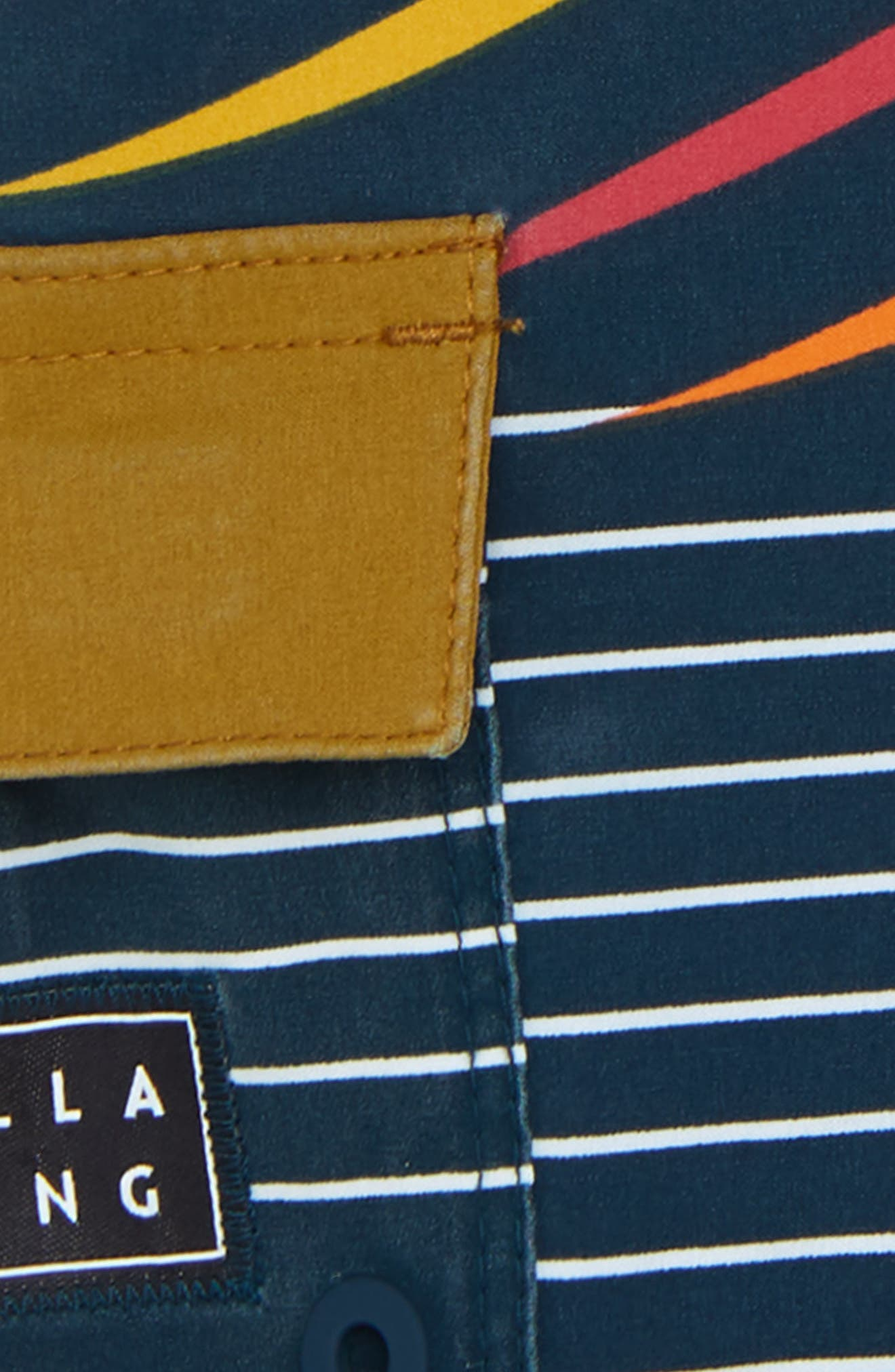 Sundays X Stripe Board Shorts,                             Alternate thumbnail 2, color,                             NAVY