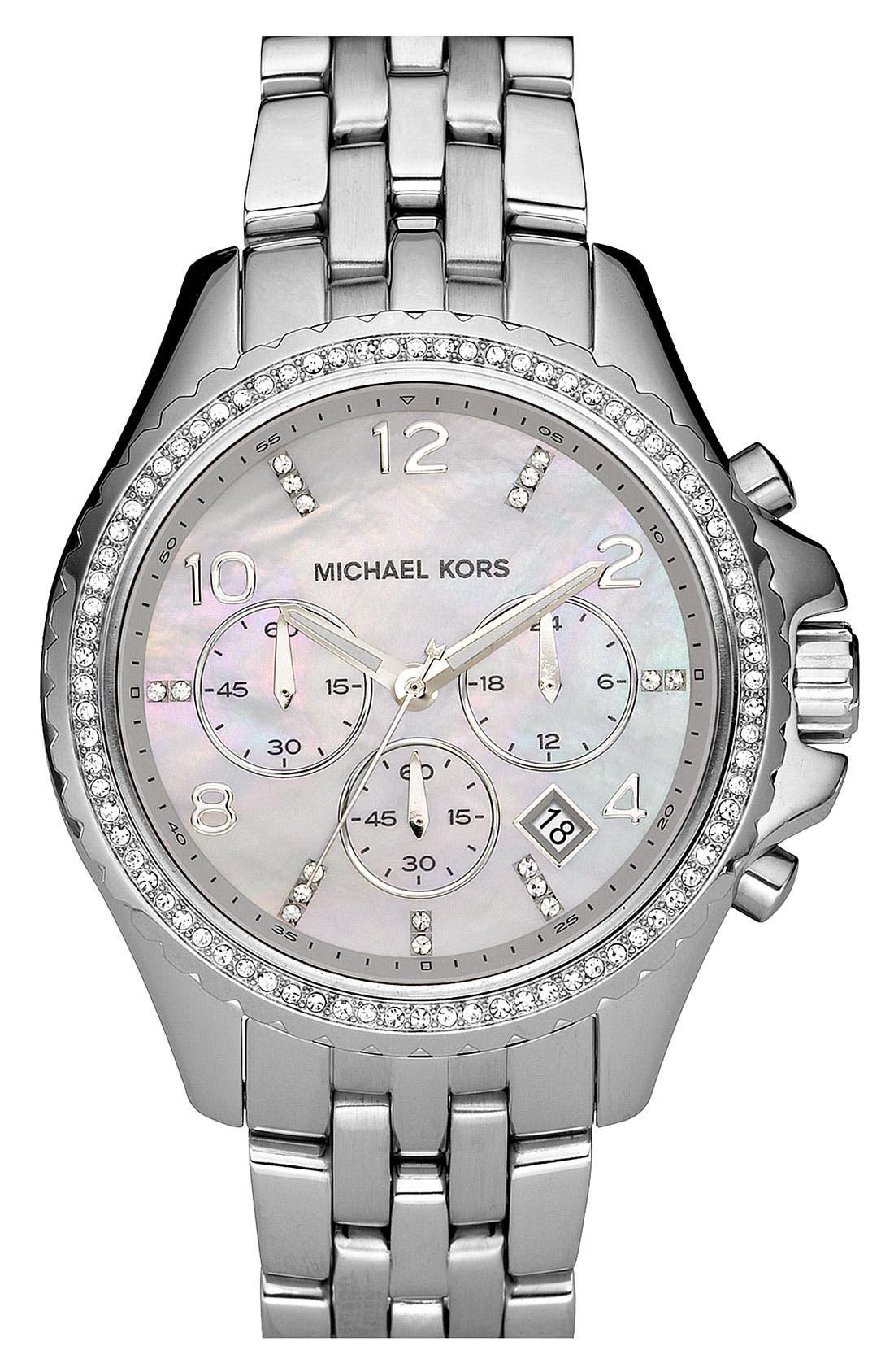 Michael Kors 'Pilot' Watch, Main, color, 040