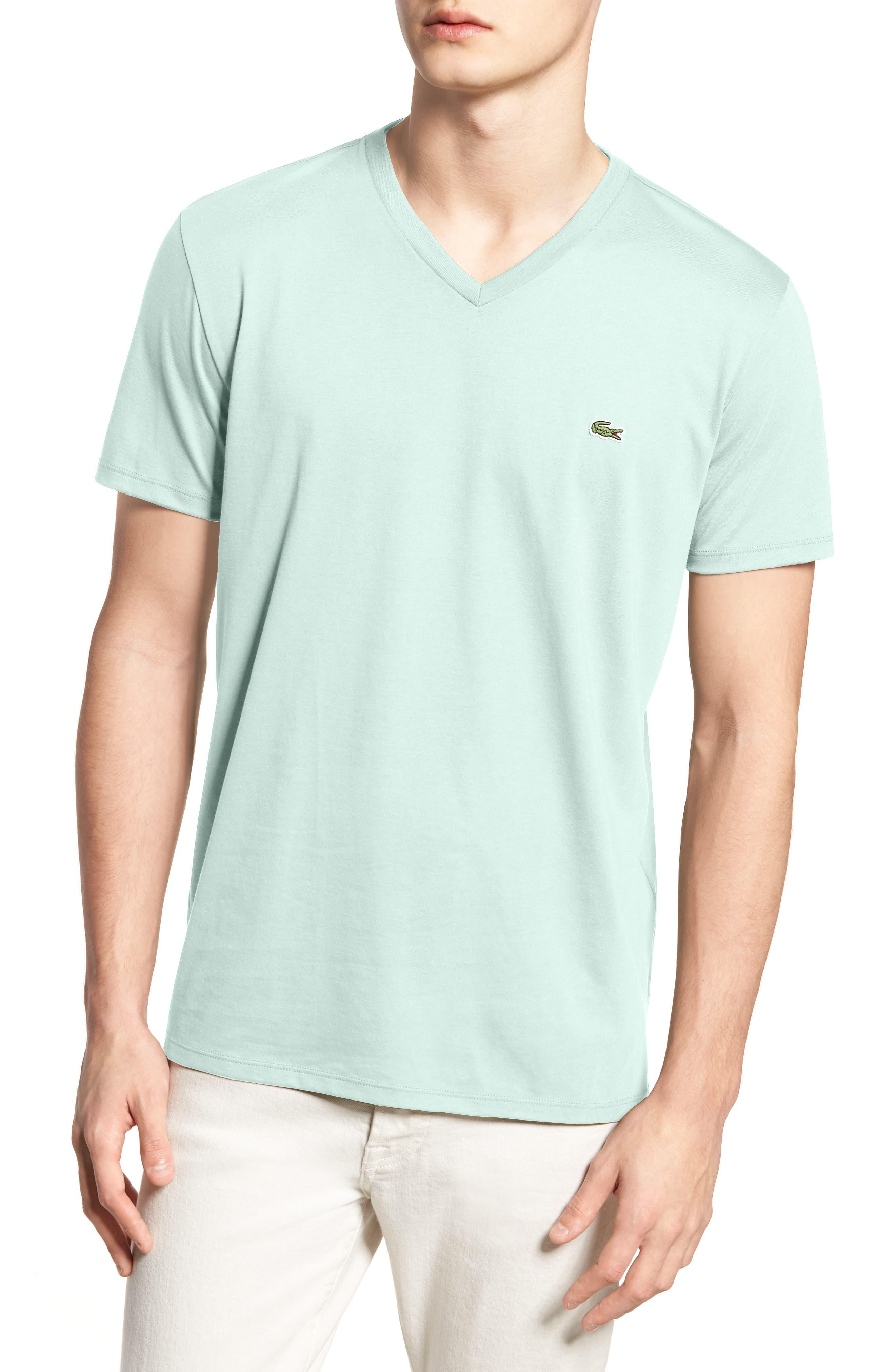 V-Neck Cotton T-Shirt,                             Main thumbnail 4, color,