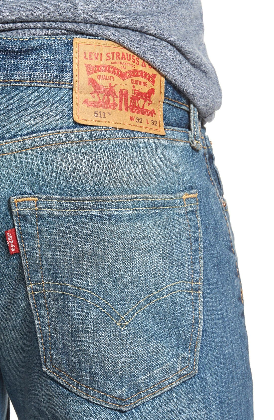 '511<sup>™</sup>' Slim Fit Jeans,                             Alternate thumbnail 3, color,                             404