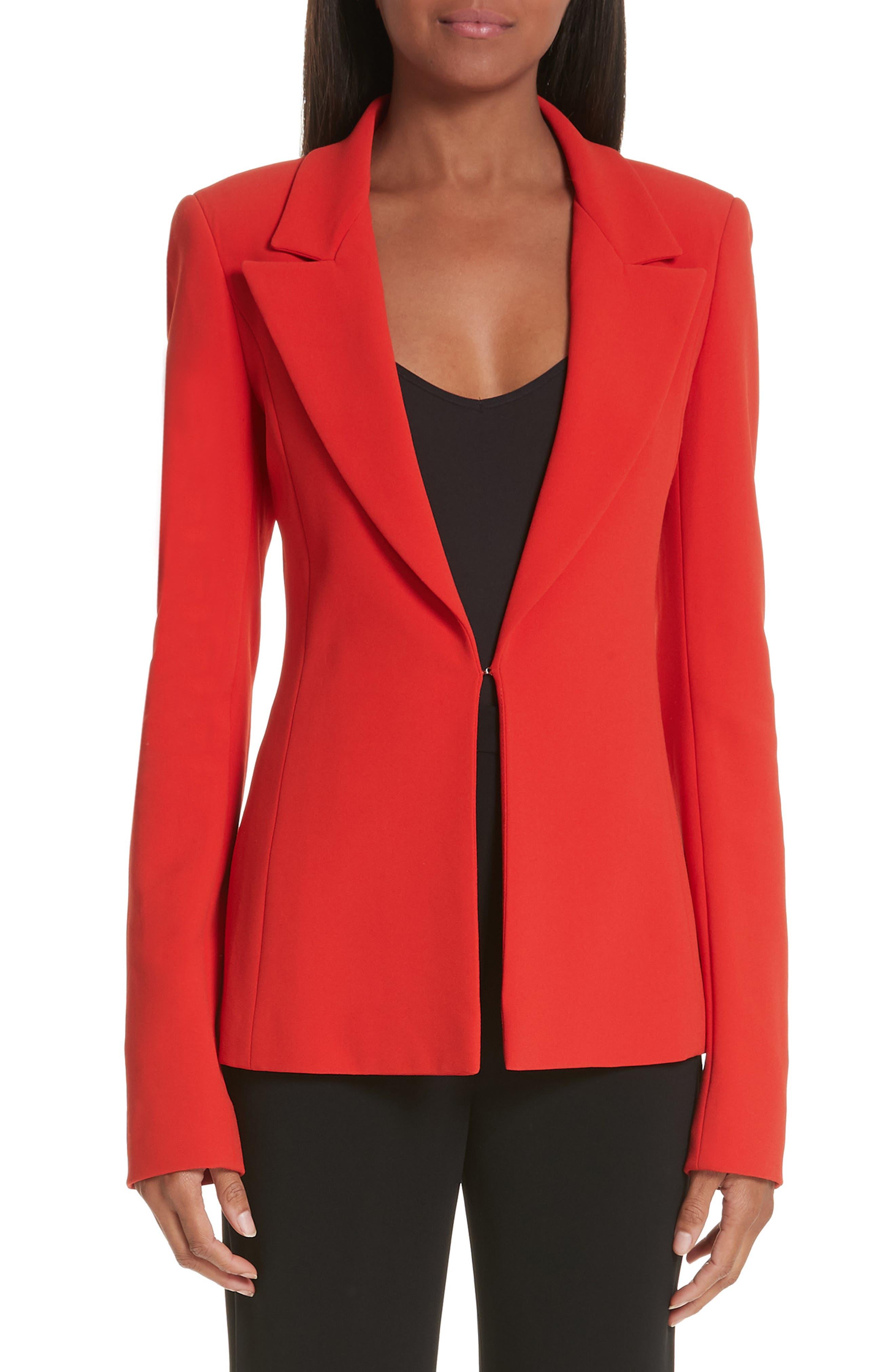 Notch Lapel Jacket, Main, color, FUCHSIA