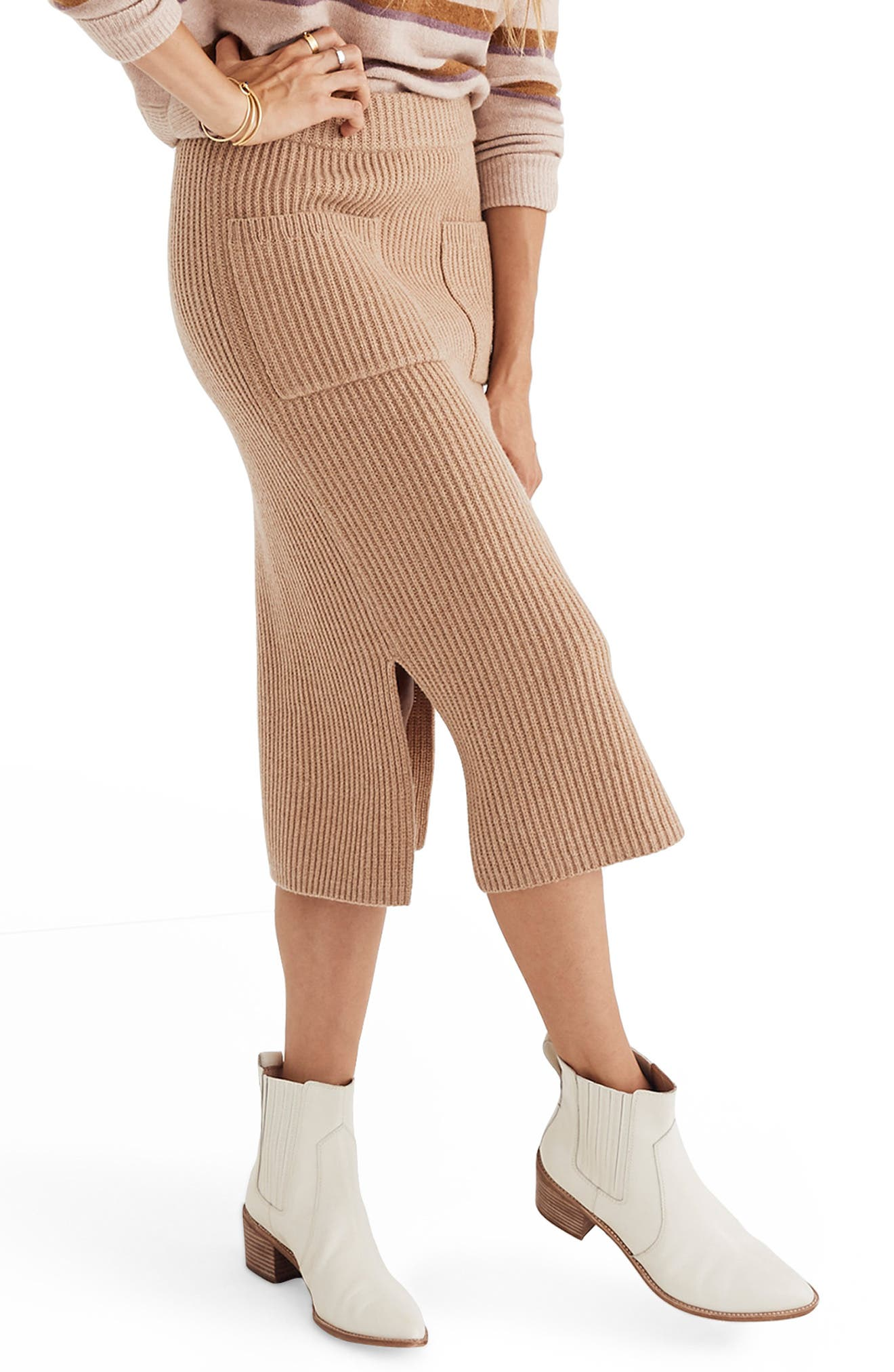 Patch Pocket Sweater Skirt,                             Alternate thumbnail 3, color,                             200