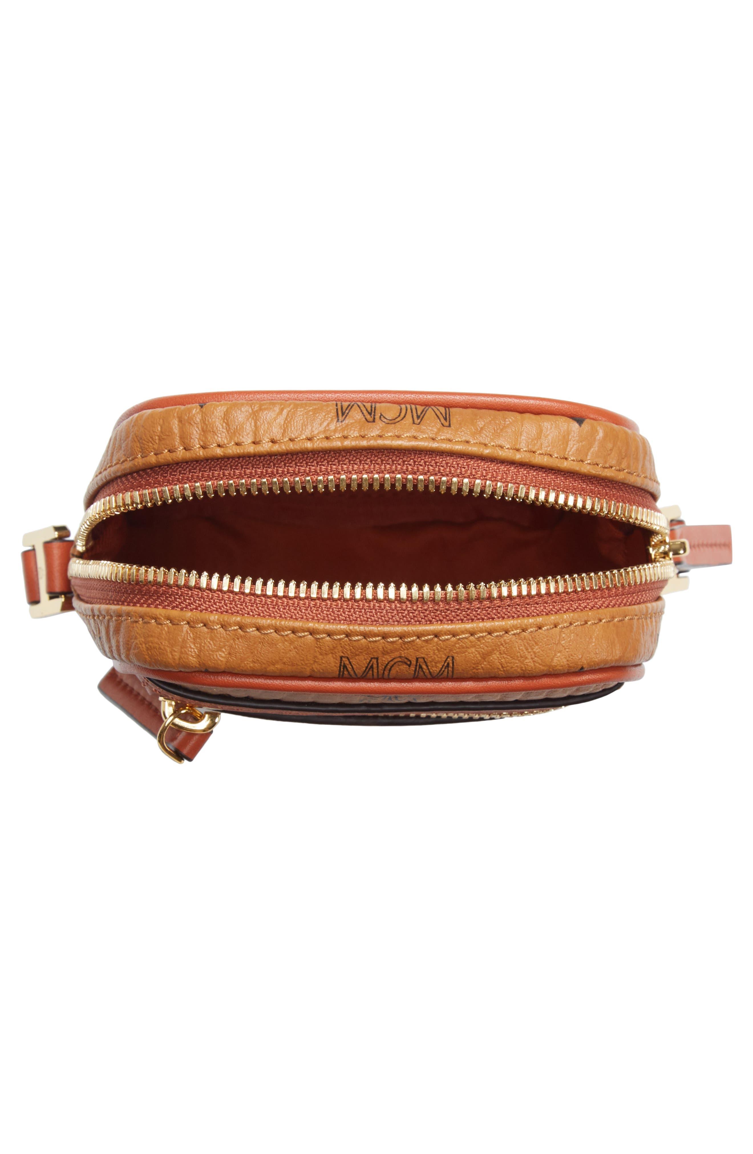 Mini Vintage Crossbody Bag,                             Alternate thumbnail 4, color,                             COGNAC