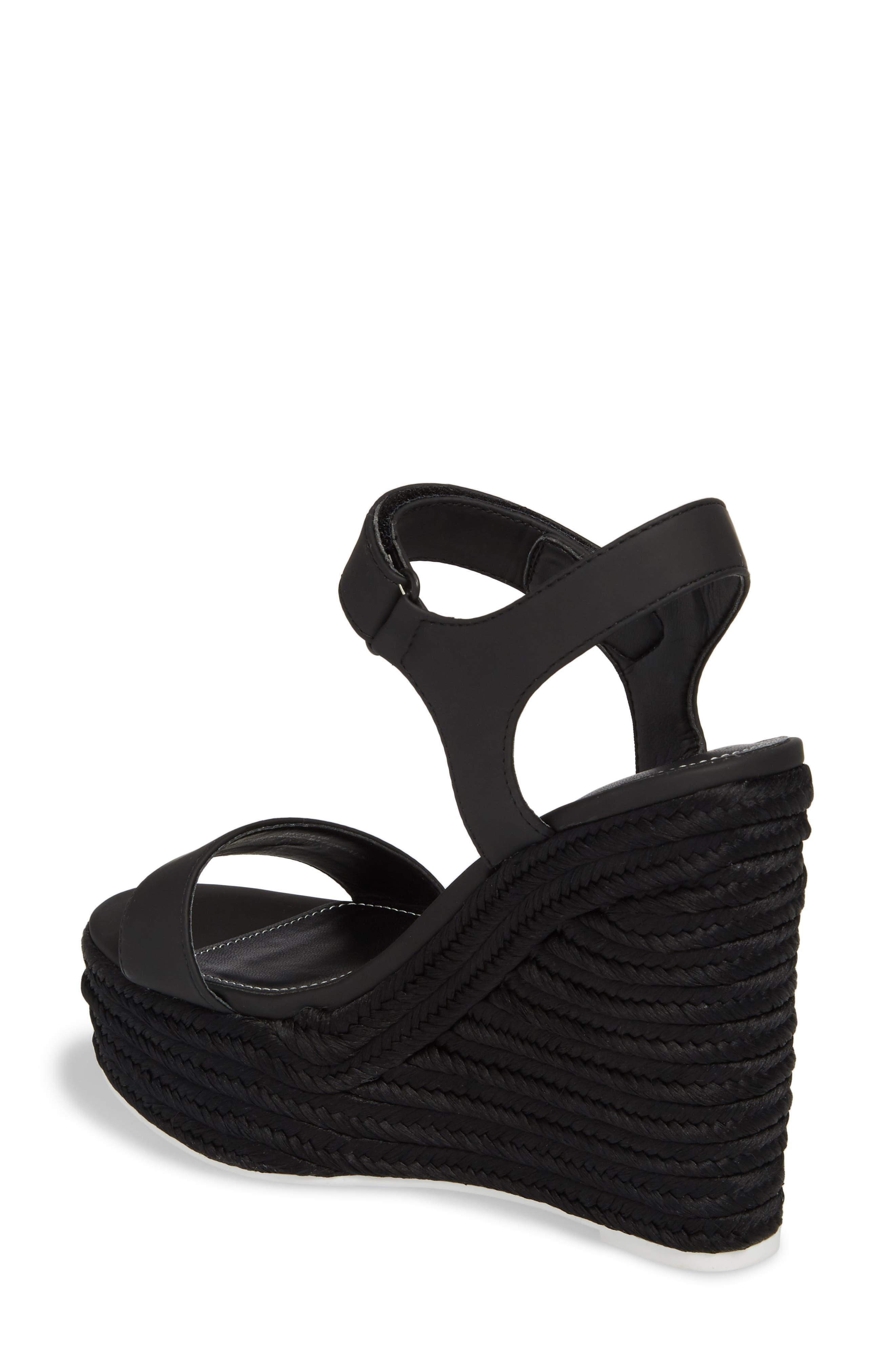 Grand Sport Espadrille Wedge Sandal,                             Alternate thumbnail 2, color,                             BLACK