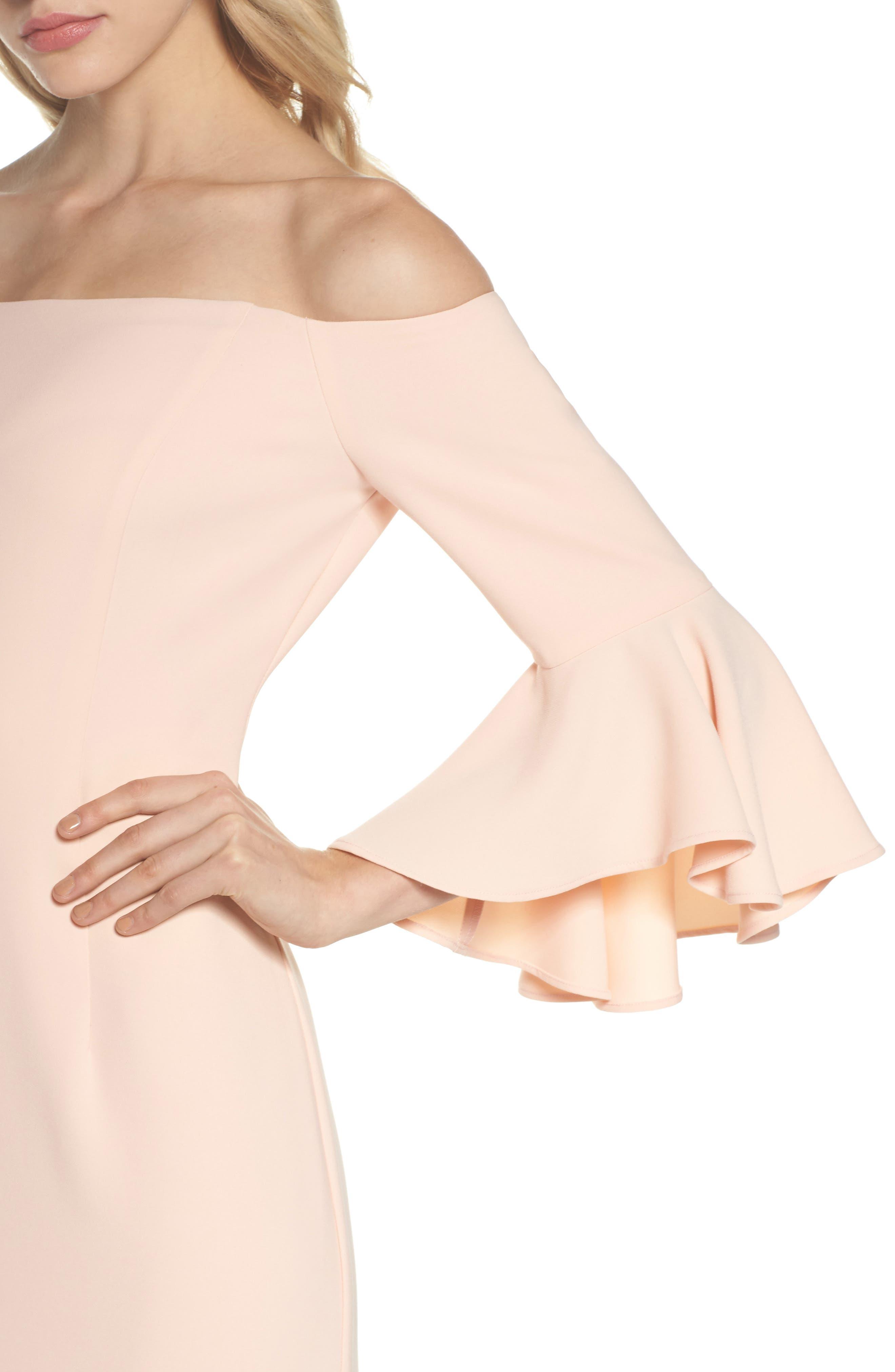 Off The Shoulder Gown,                             Alternate thumbnail 4, color,                             684