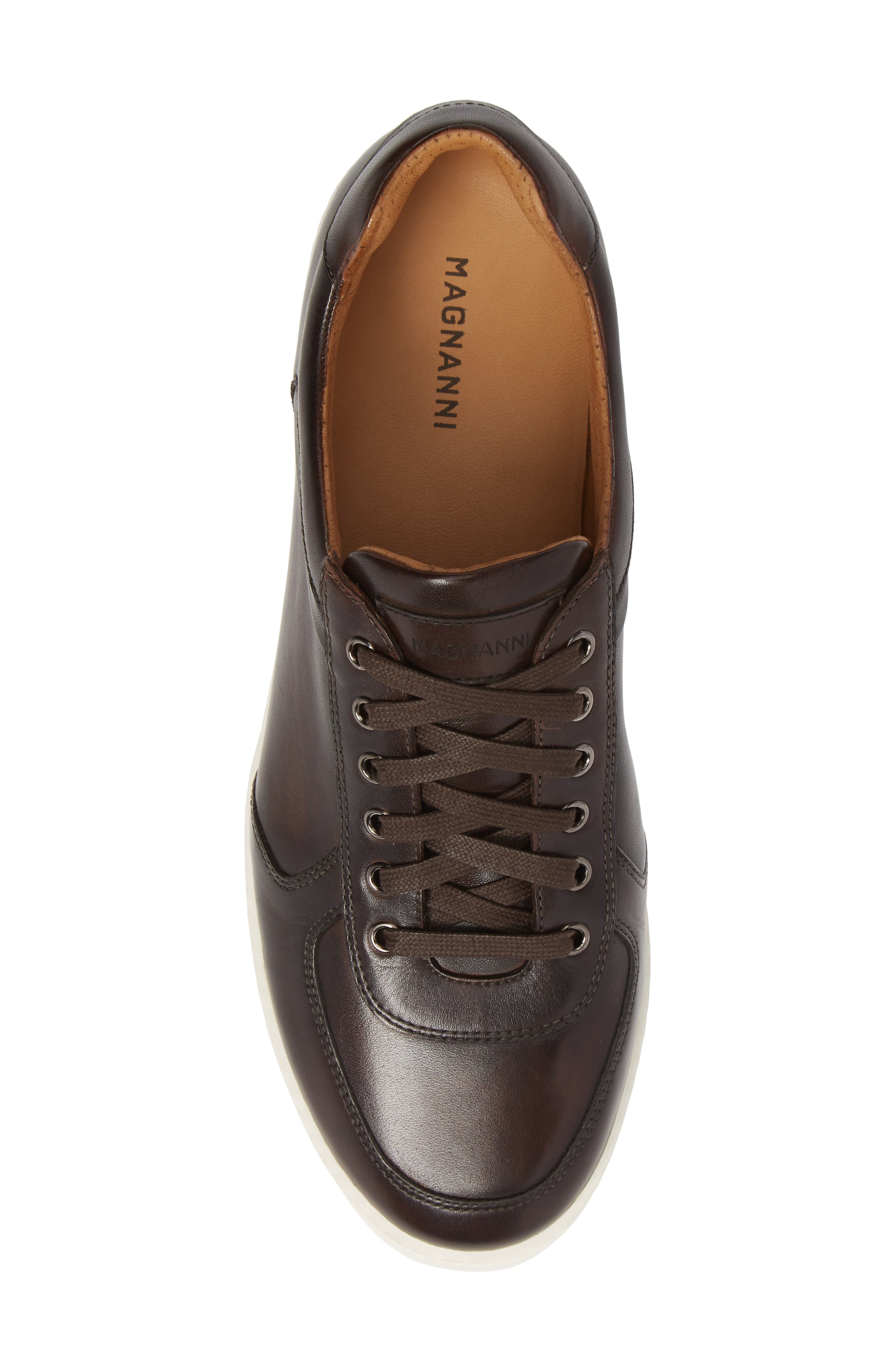 Echo Sneaker,                             Alternate thumbnail 5, color,                             BROWN LEATHER