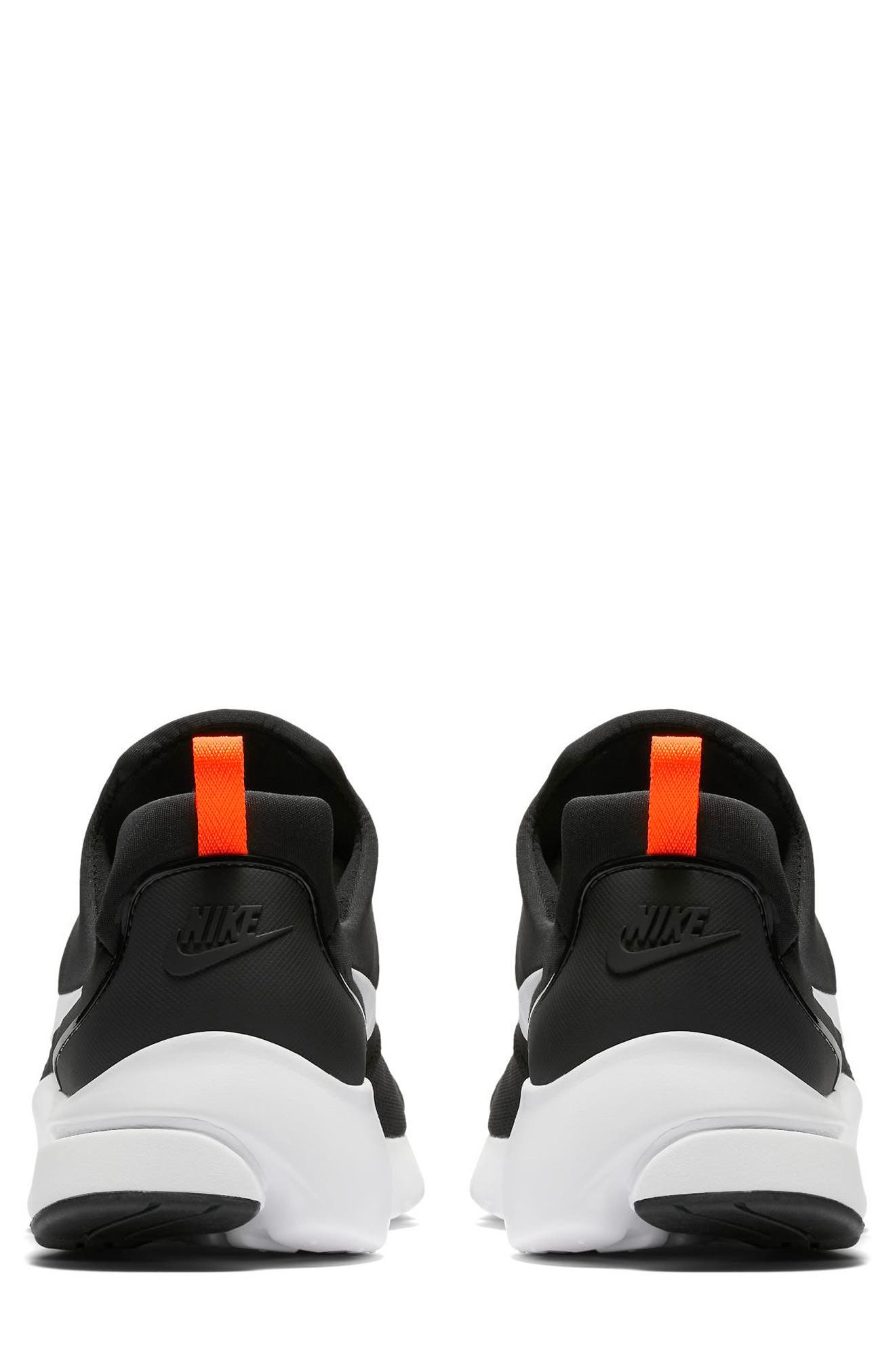 Presto Fly Sneaker,                             Alternate thumbnail 5, color,                             BLACK/ WHITE/ TOTAL ORANGE