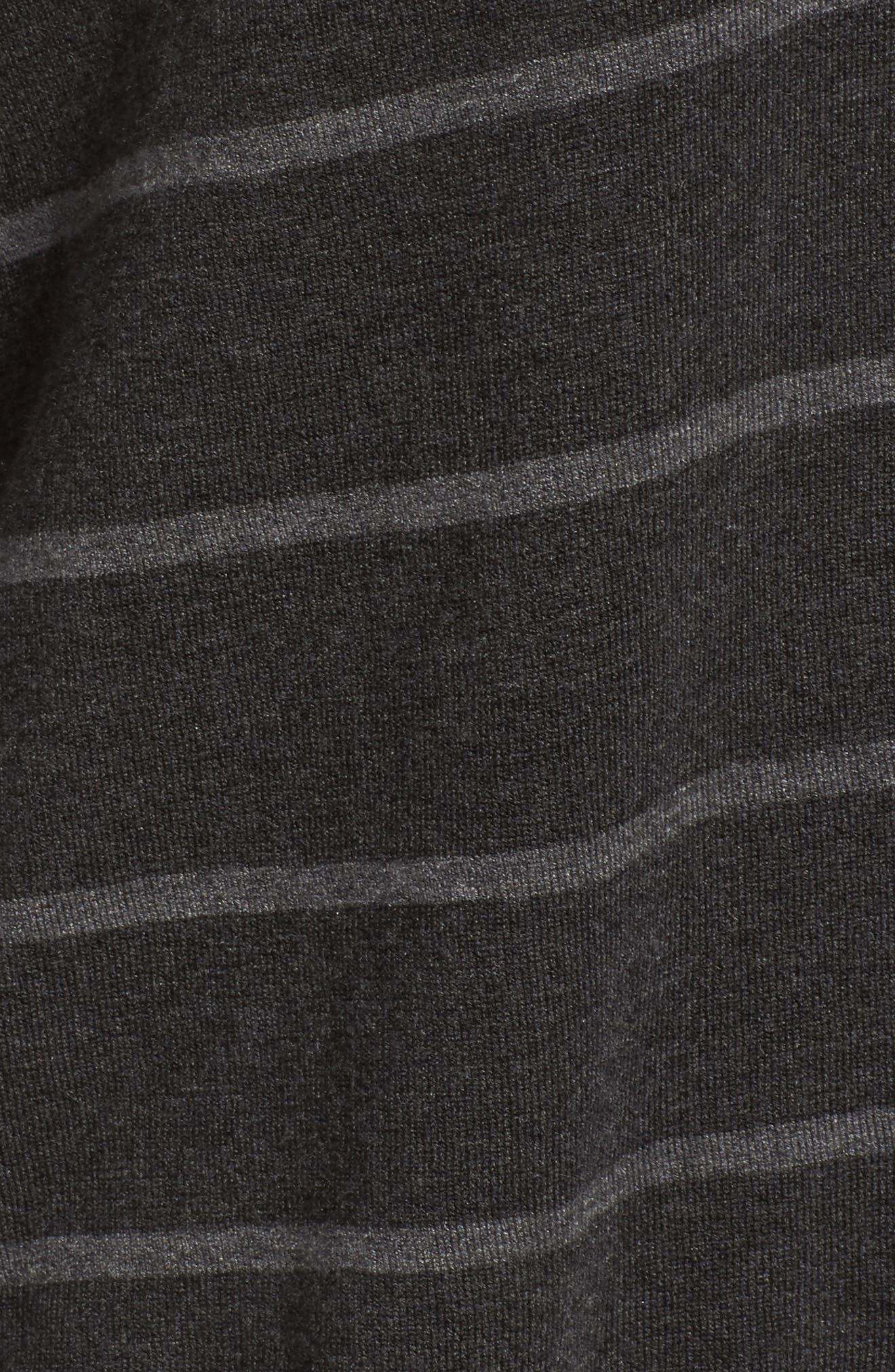 Stripe Tencel<sup>®</sup> Blend Crop Sweater,                             Alternate thumbnail 5, color,                             064