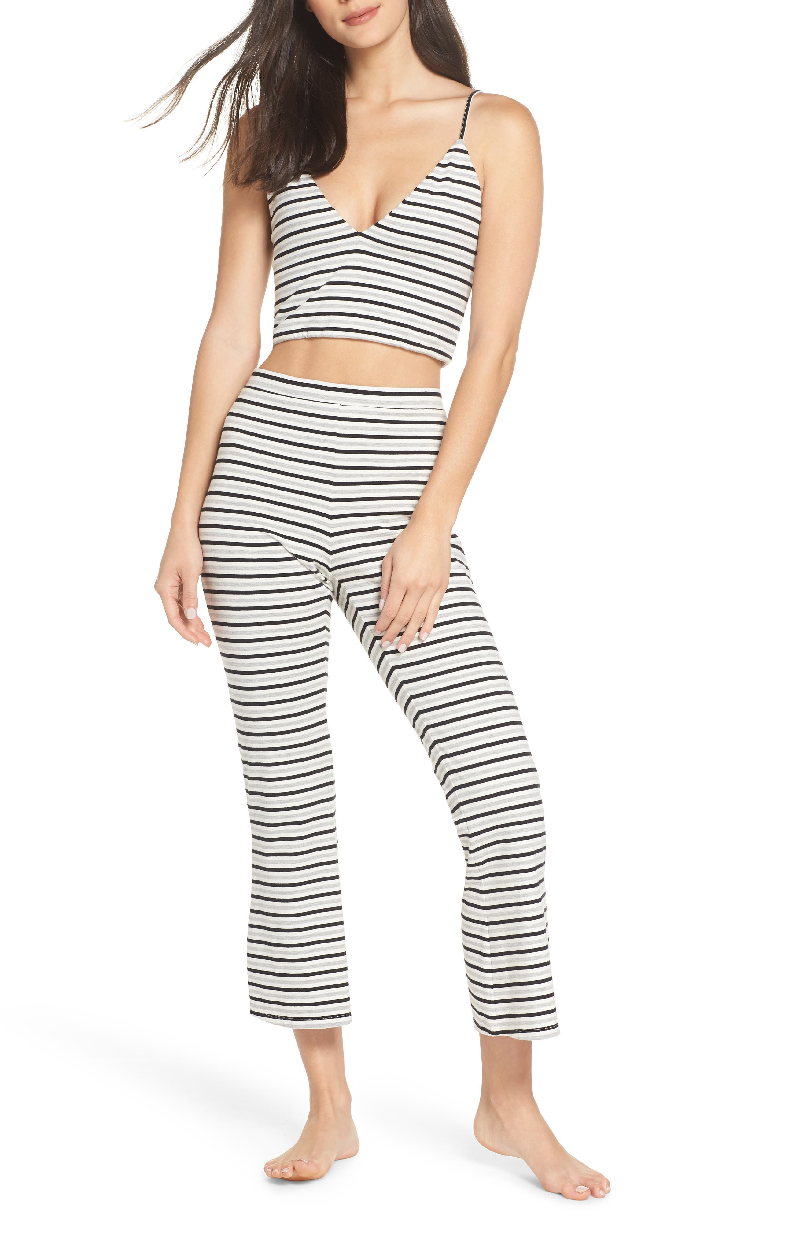 Flare for Drama Crop Lounge Pants,                             Alternate thumbnail 7, color,                             IVORY