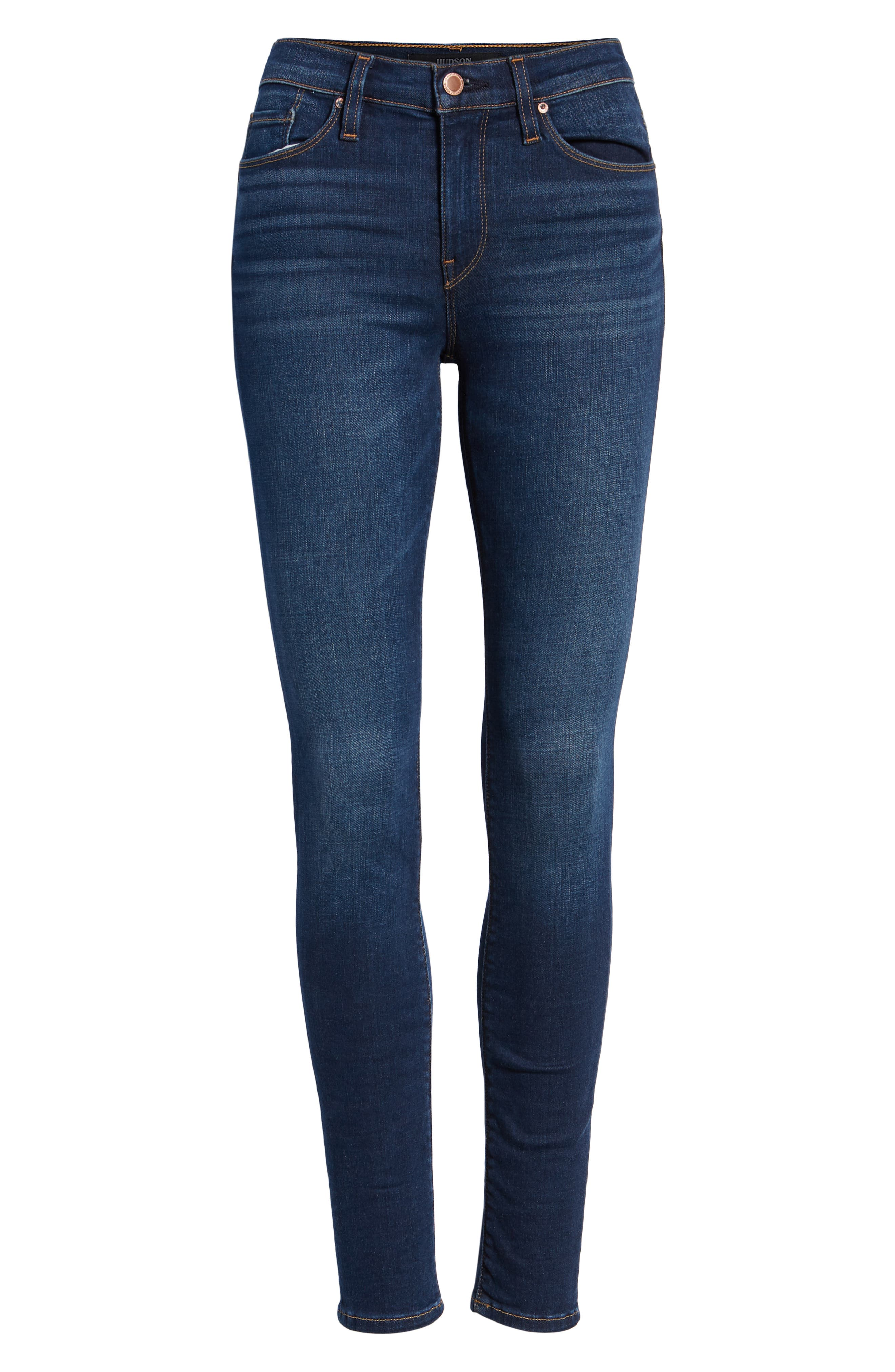 Nico Super Skinny Jeans,                             Alternate thumbnail 7, color,                             GOWER