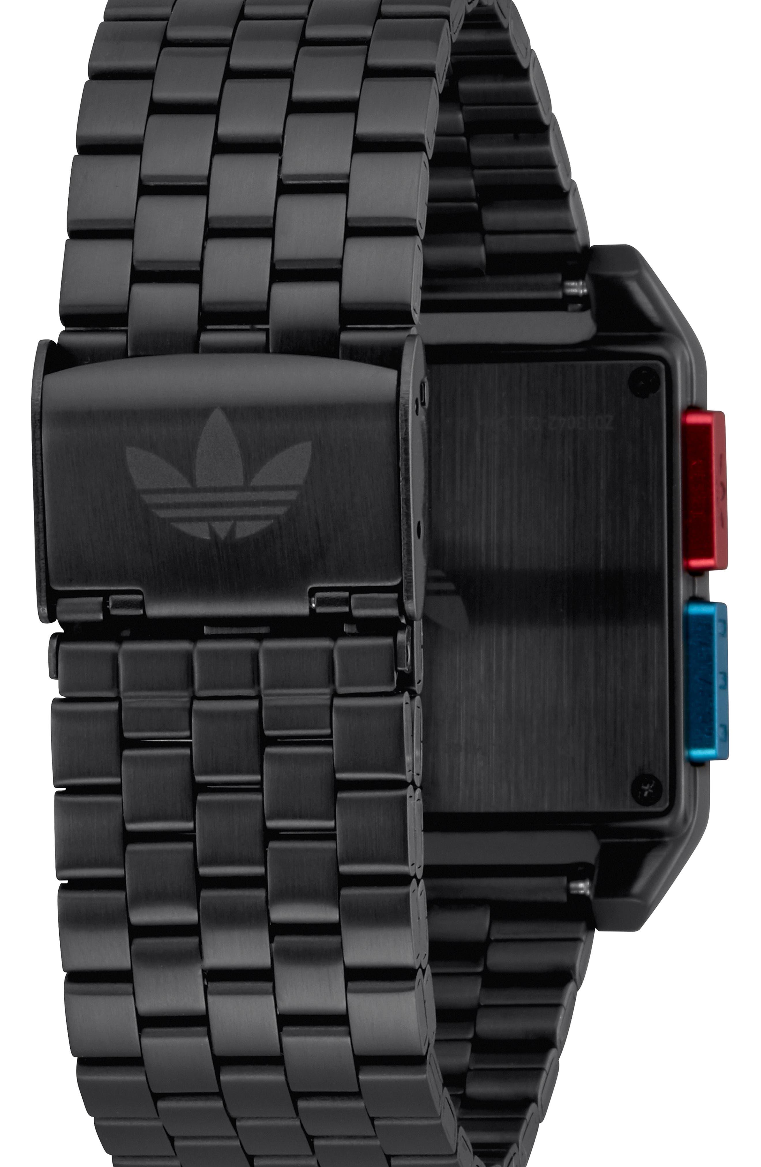 Archive Digital Bracelet Watch, 36mm,                             Alternate thumbnail 2, color,                             BLACK/ BLUE/ RED