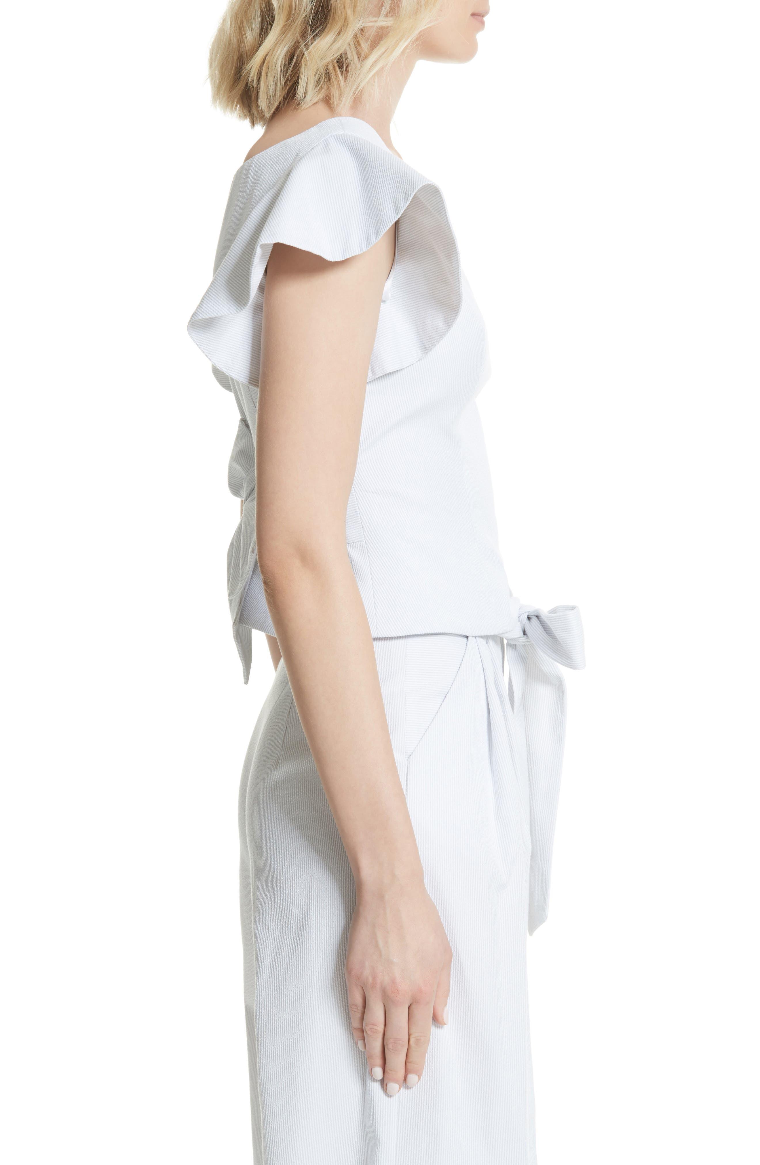 Dakota Ruffle Sleeve Top,                             Alternate thumbnail 3, color,                             020