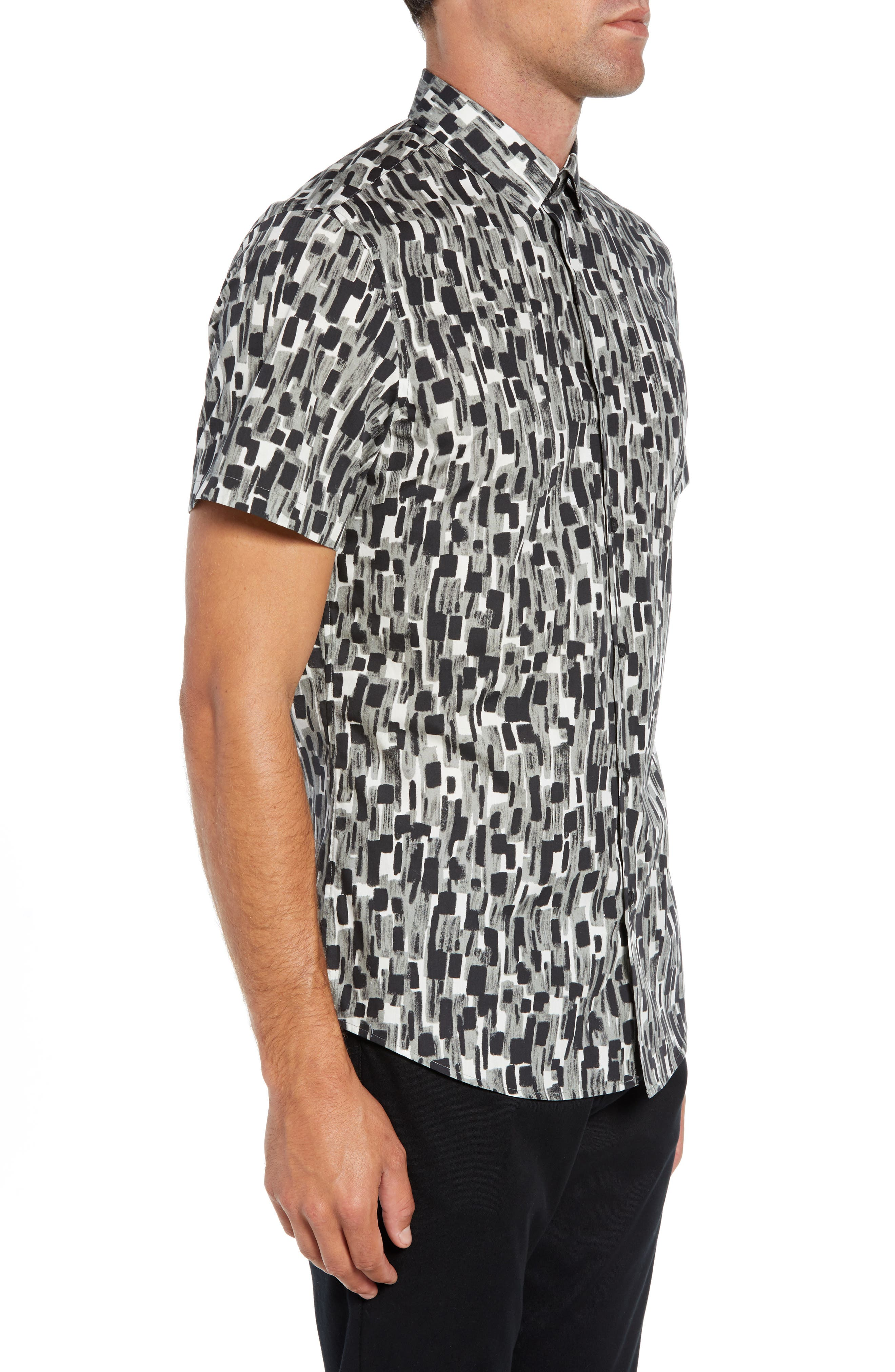 Mini Collar Print Sport Shirt,                             Alternate thumbnail 4, color,                             050
