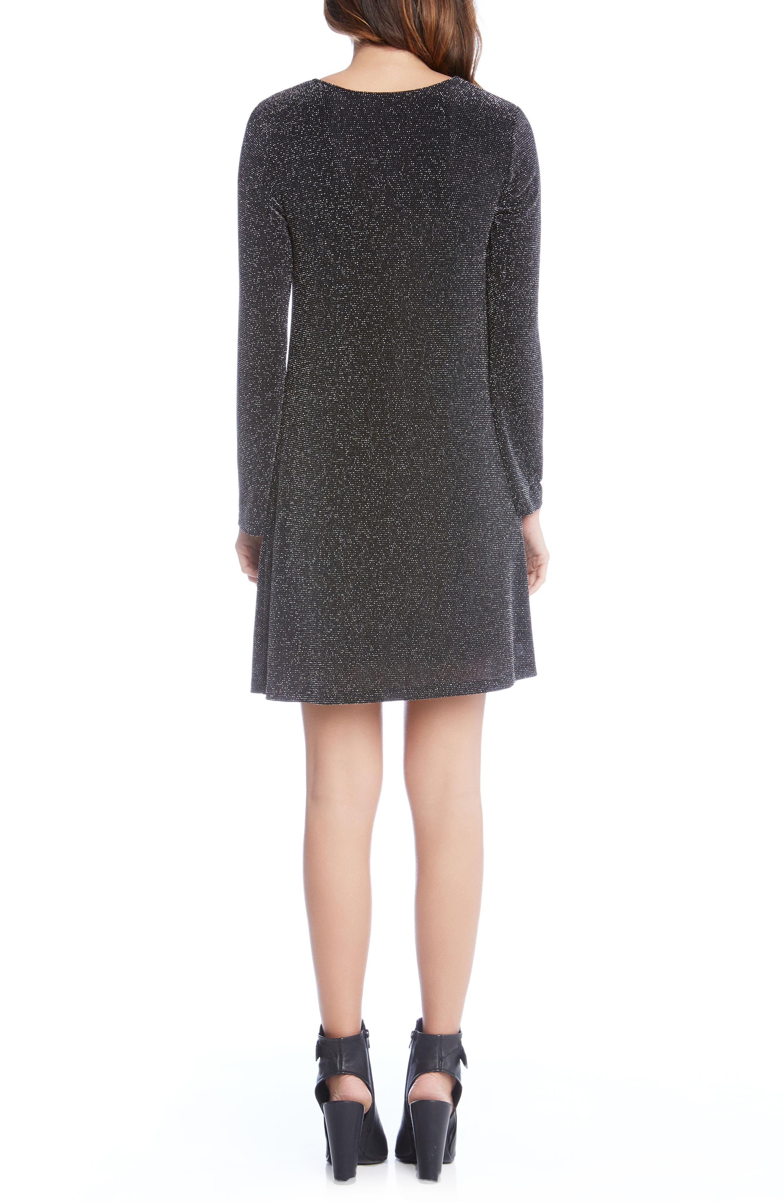 Sparkle Knit Shift Dress,                             Alternate thumbnail 2, color,                             004