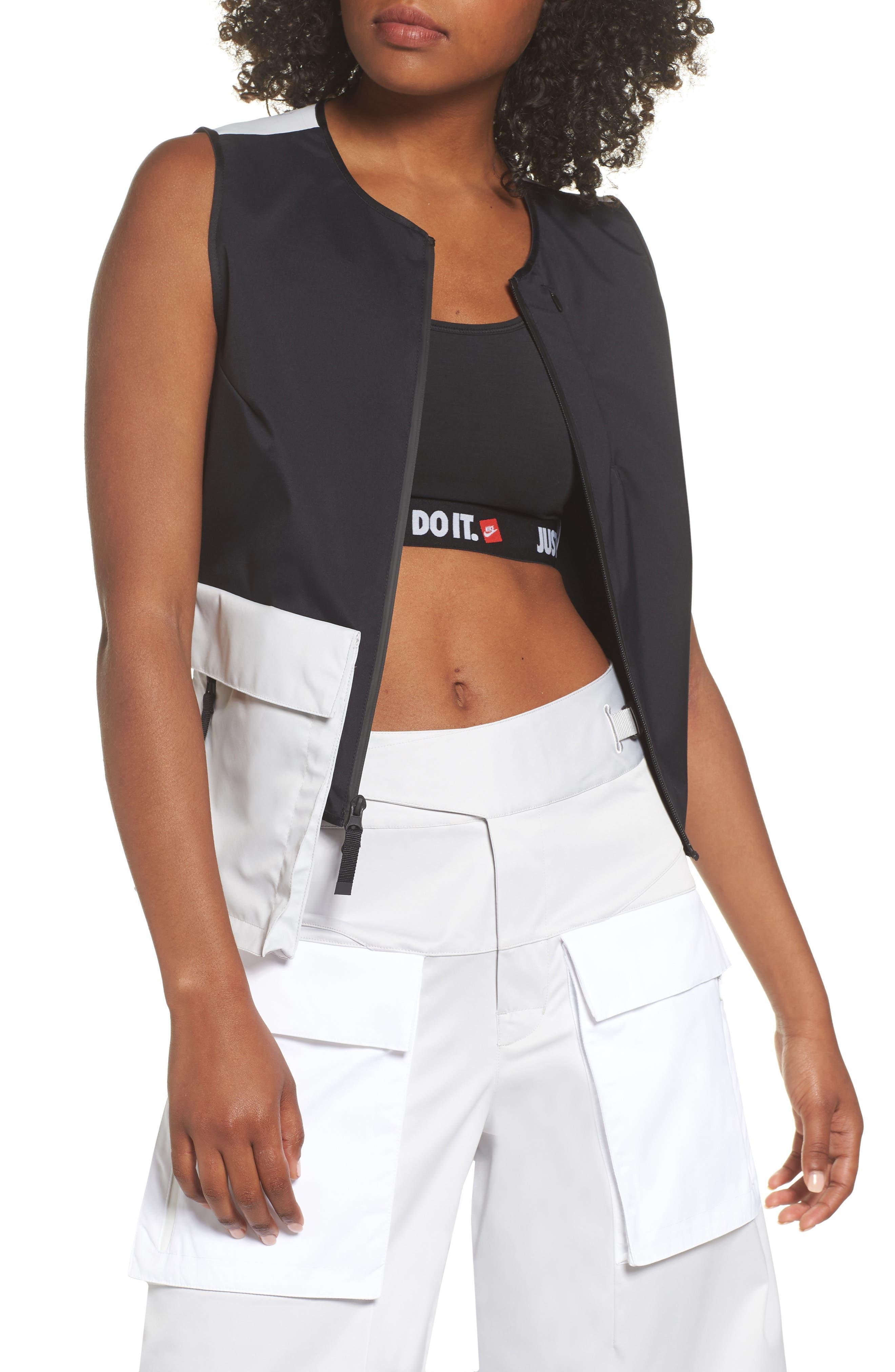 NRG Women's Utility Vest,                         Main,                         color, BLACK/ VAPOR GREEN/ BLACK