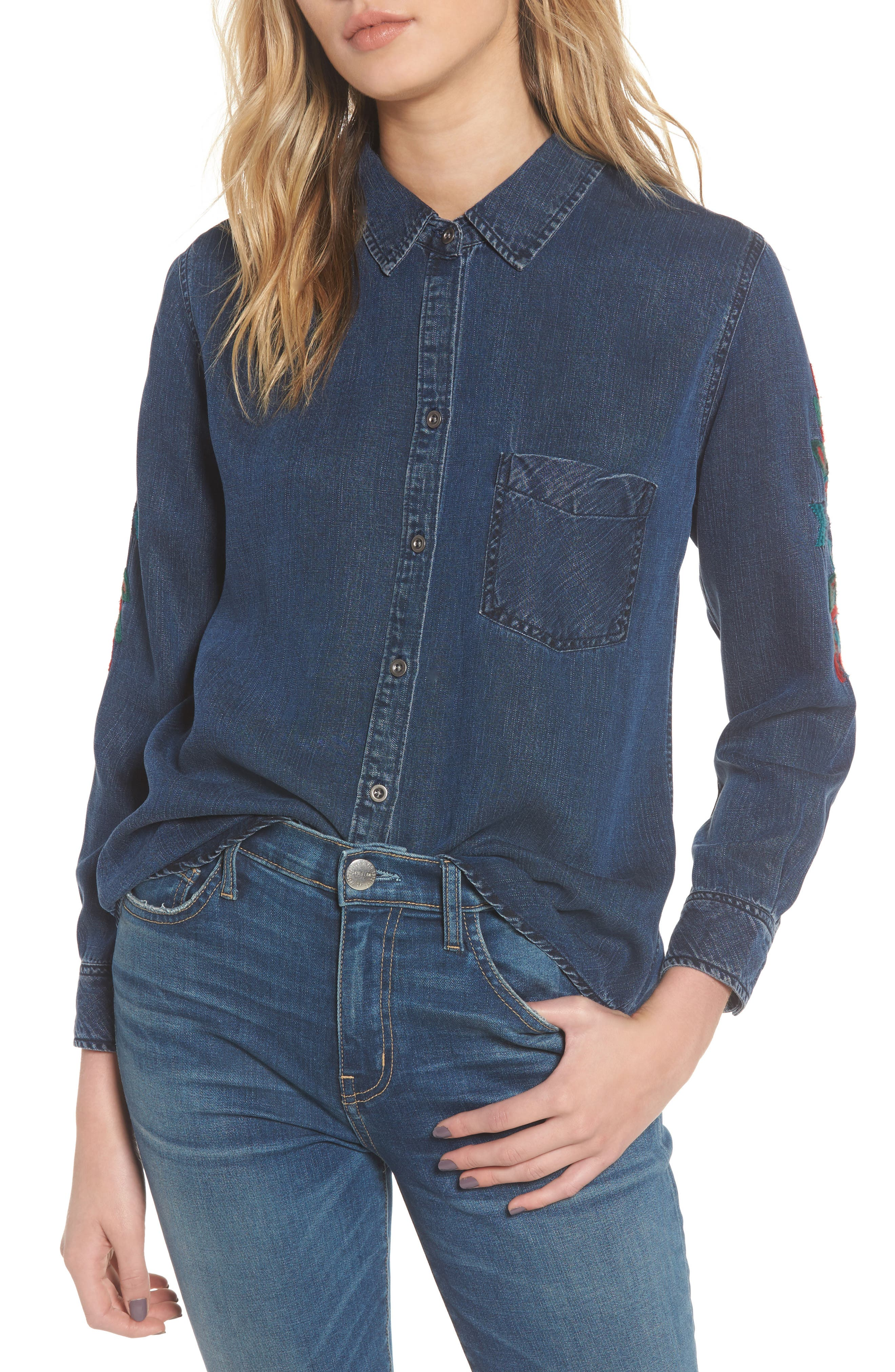 Ingrid Embroidered Shirt,                         Main,                         color, 432