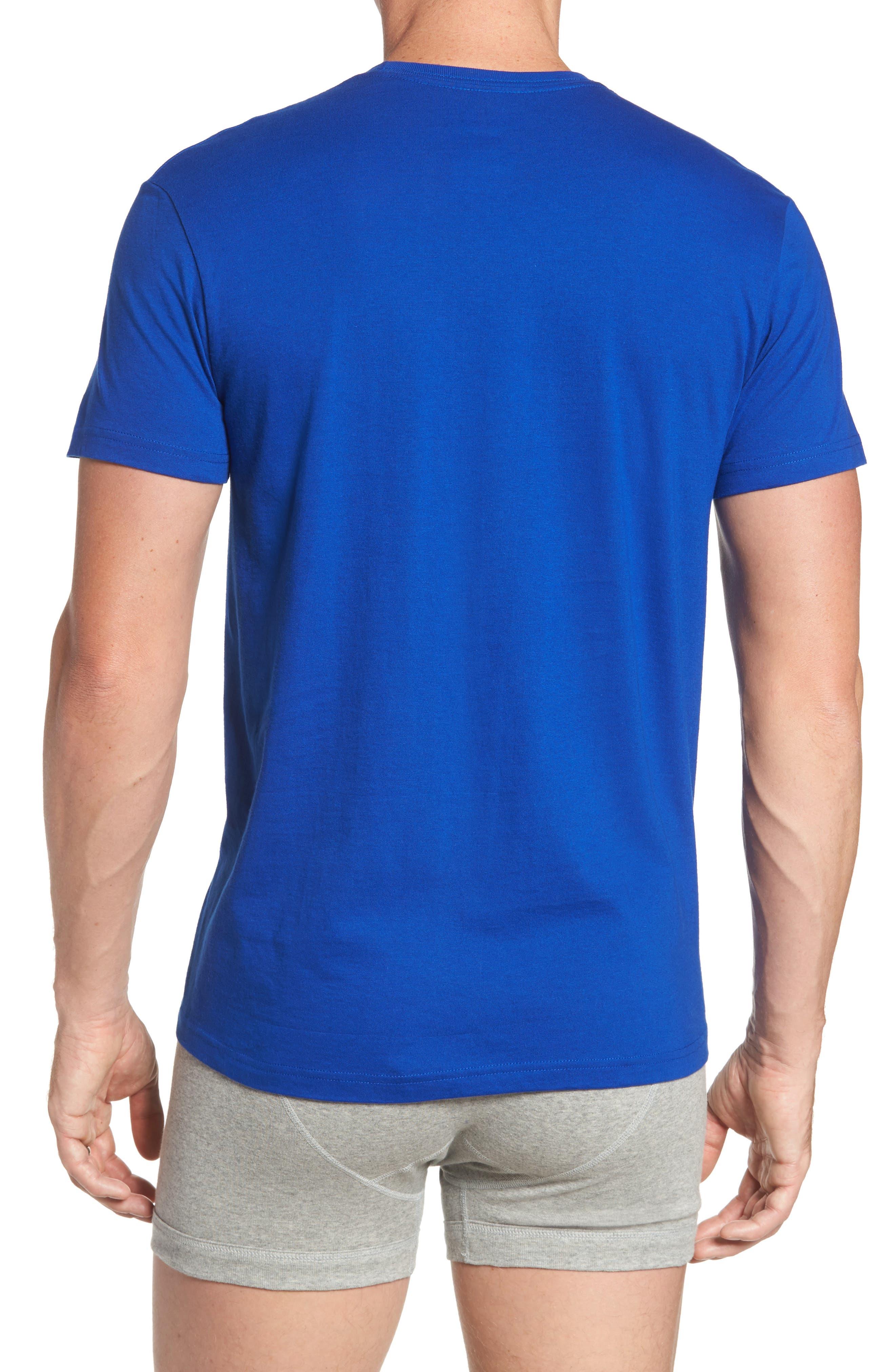 3-Pack Crewneck Cotton T-Shirts,                             Alternate thumbnail 3, color,                             001