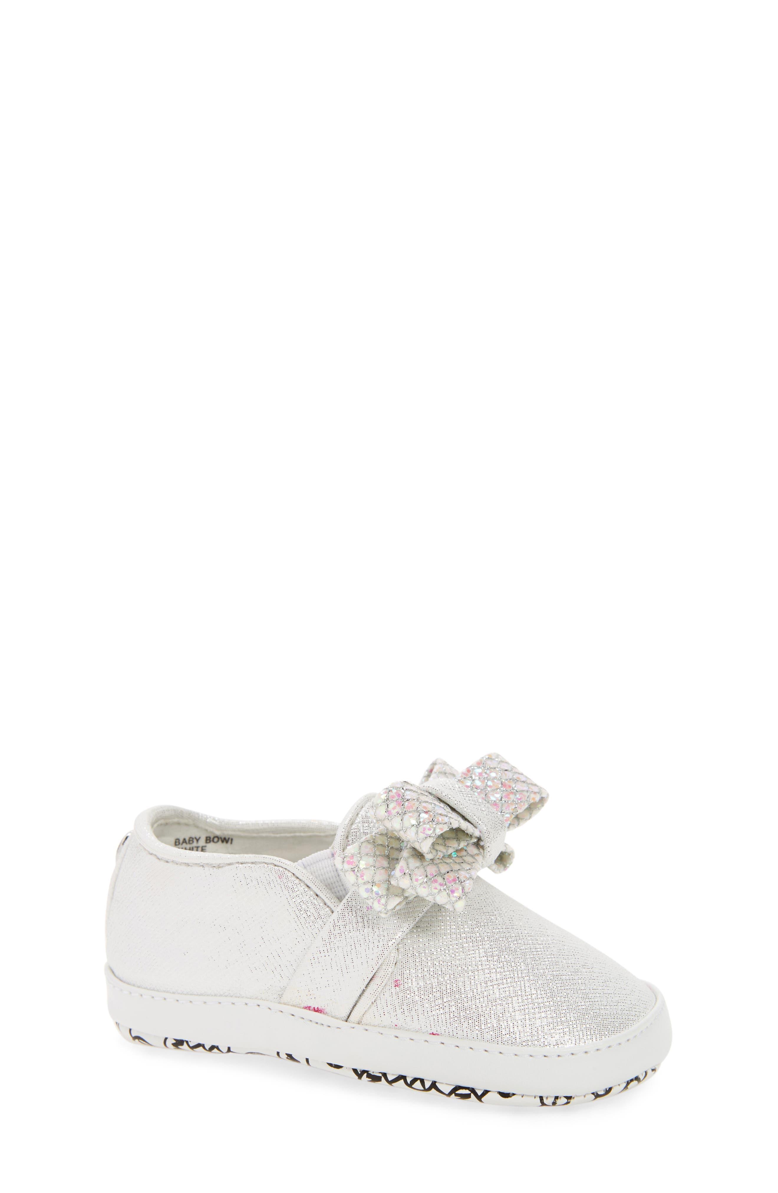 Baby Bowi Metallic Slip-On Crib Shoe,                         Main,                         color, 100