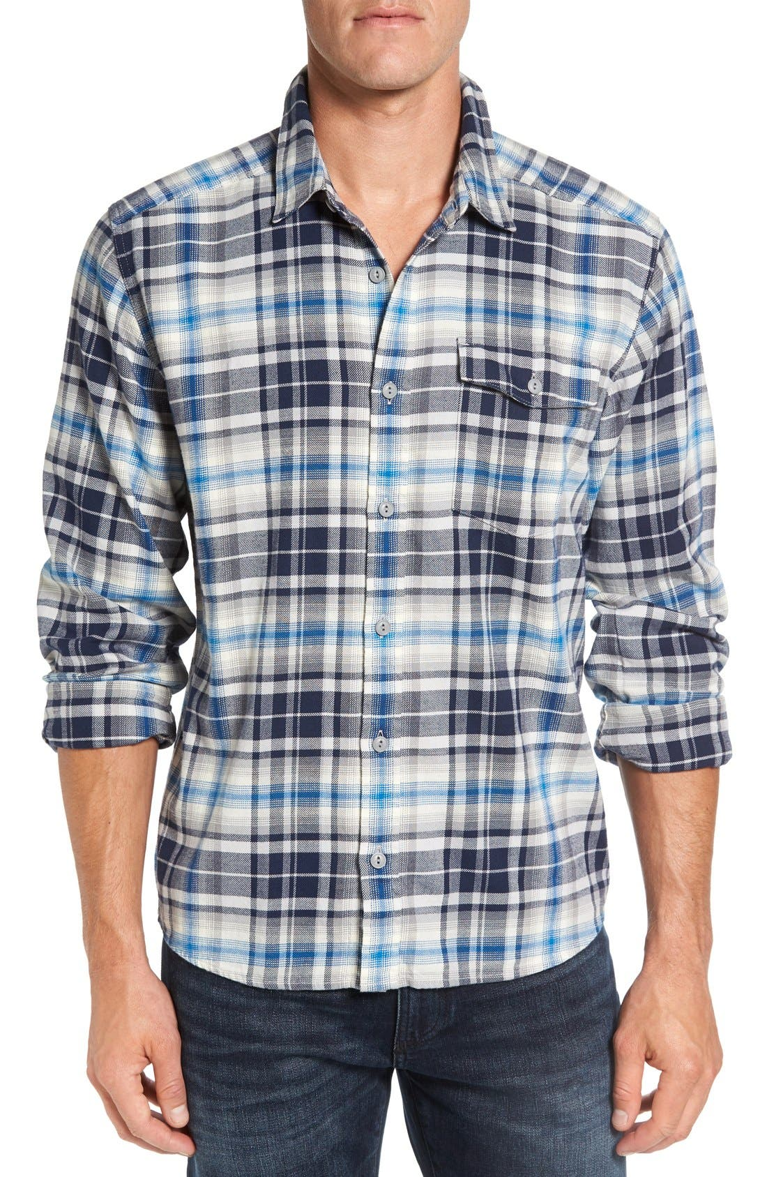 Regular Fit Organic Cotton Flannel Shirt,                             Main thumbnail 11, color,