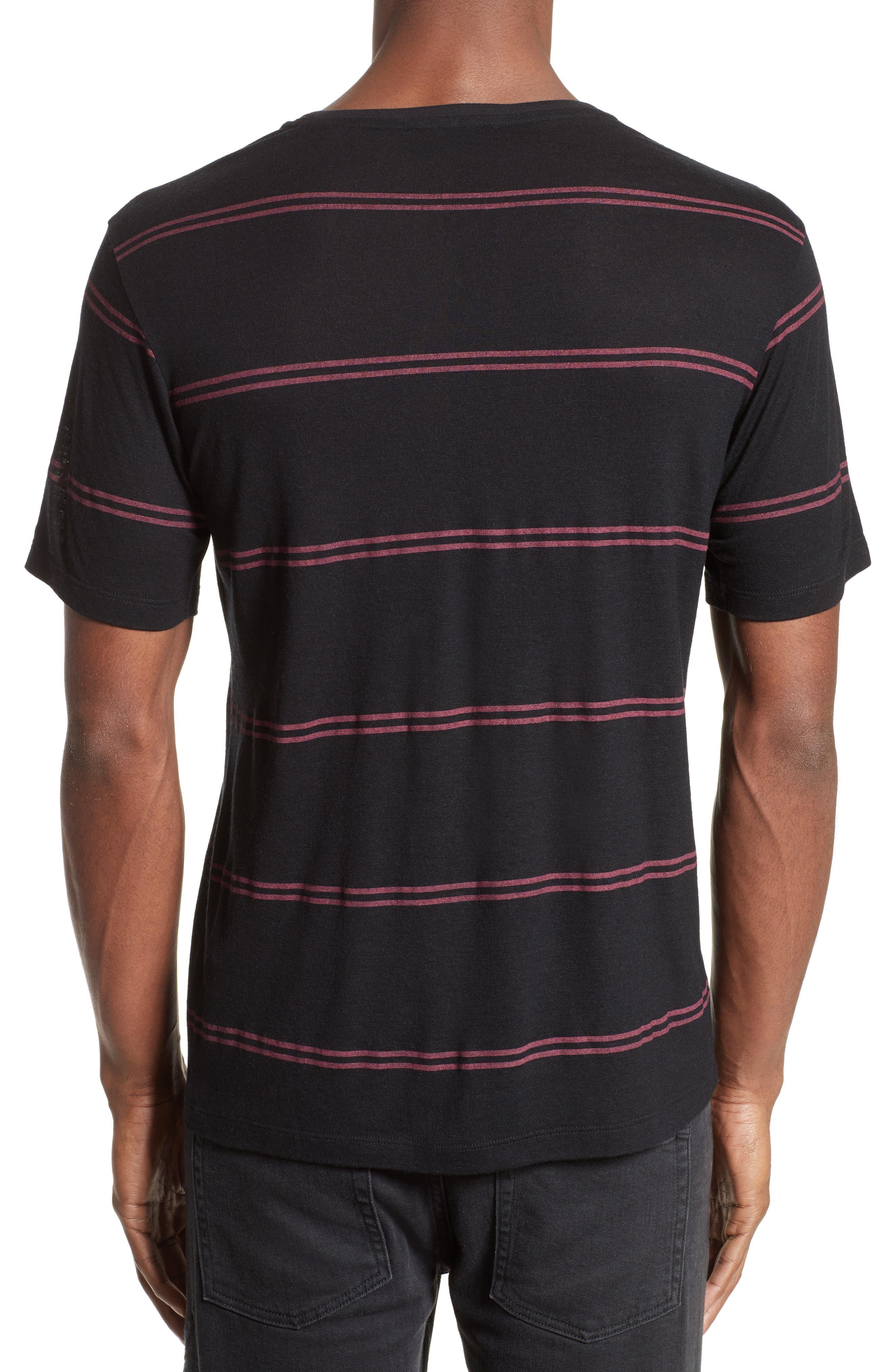 Stripe T-Shirt,                             Alternate thumbnail 2, color,                             001