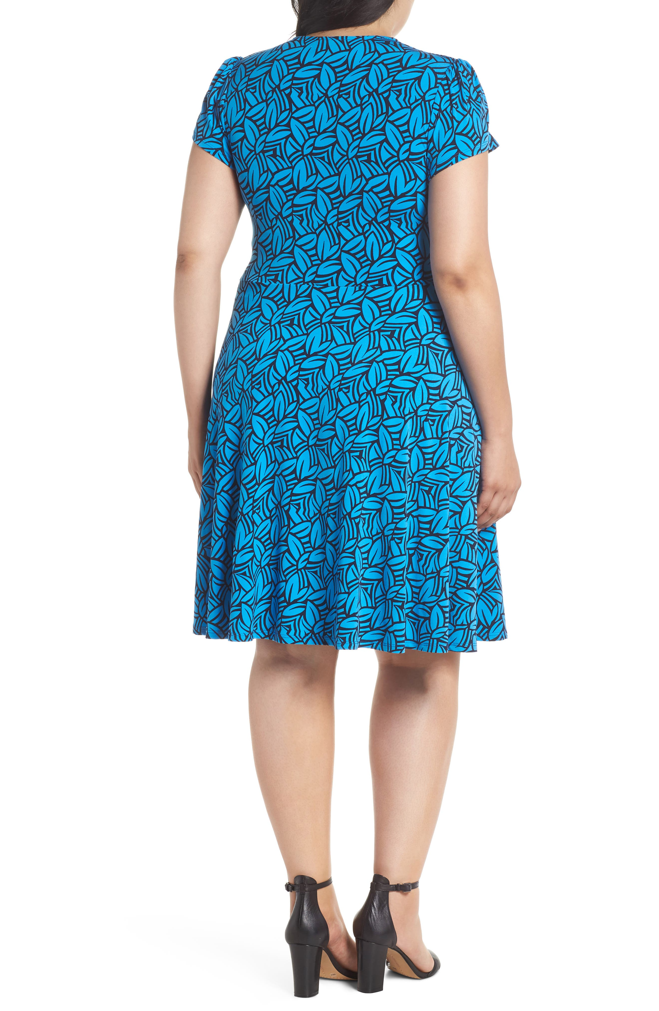 Faux Wrap Jersey Dress,                             Alternate thumbnail 2, color,                             FORGE BLITHE