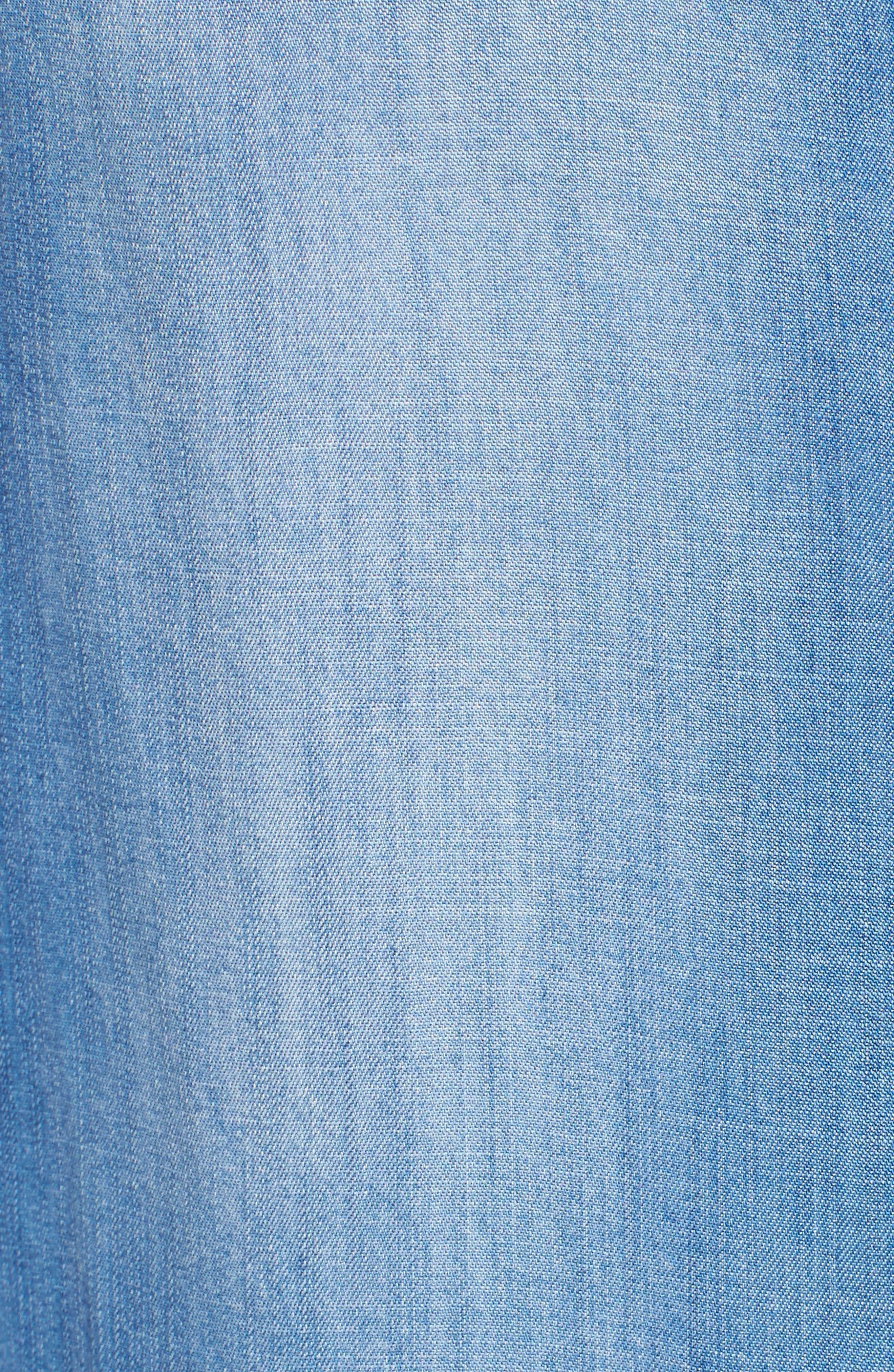 Ripped Denim Shirt,                             Alternate thumbnail 5, color,                             496