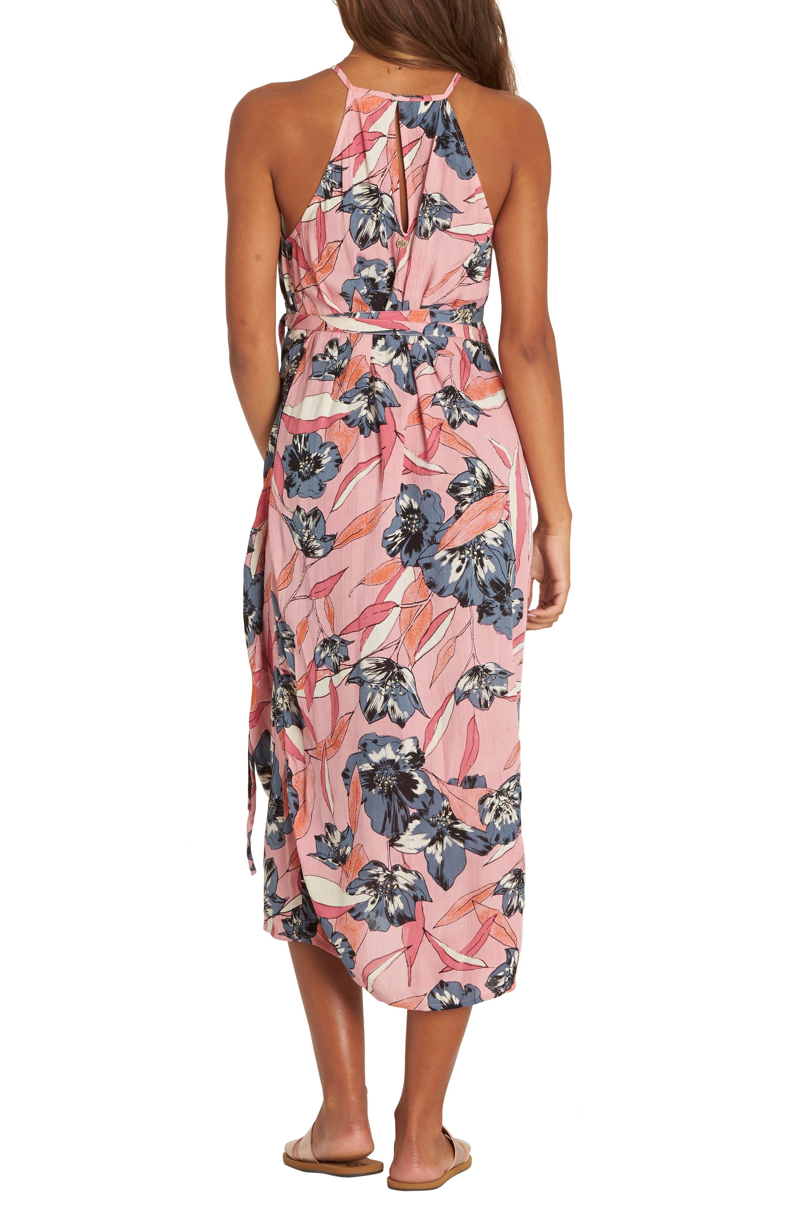 Aloha Babe Midi Wrap Dress,                             Alternate thumbnail 2, color,                             650