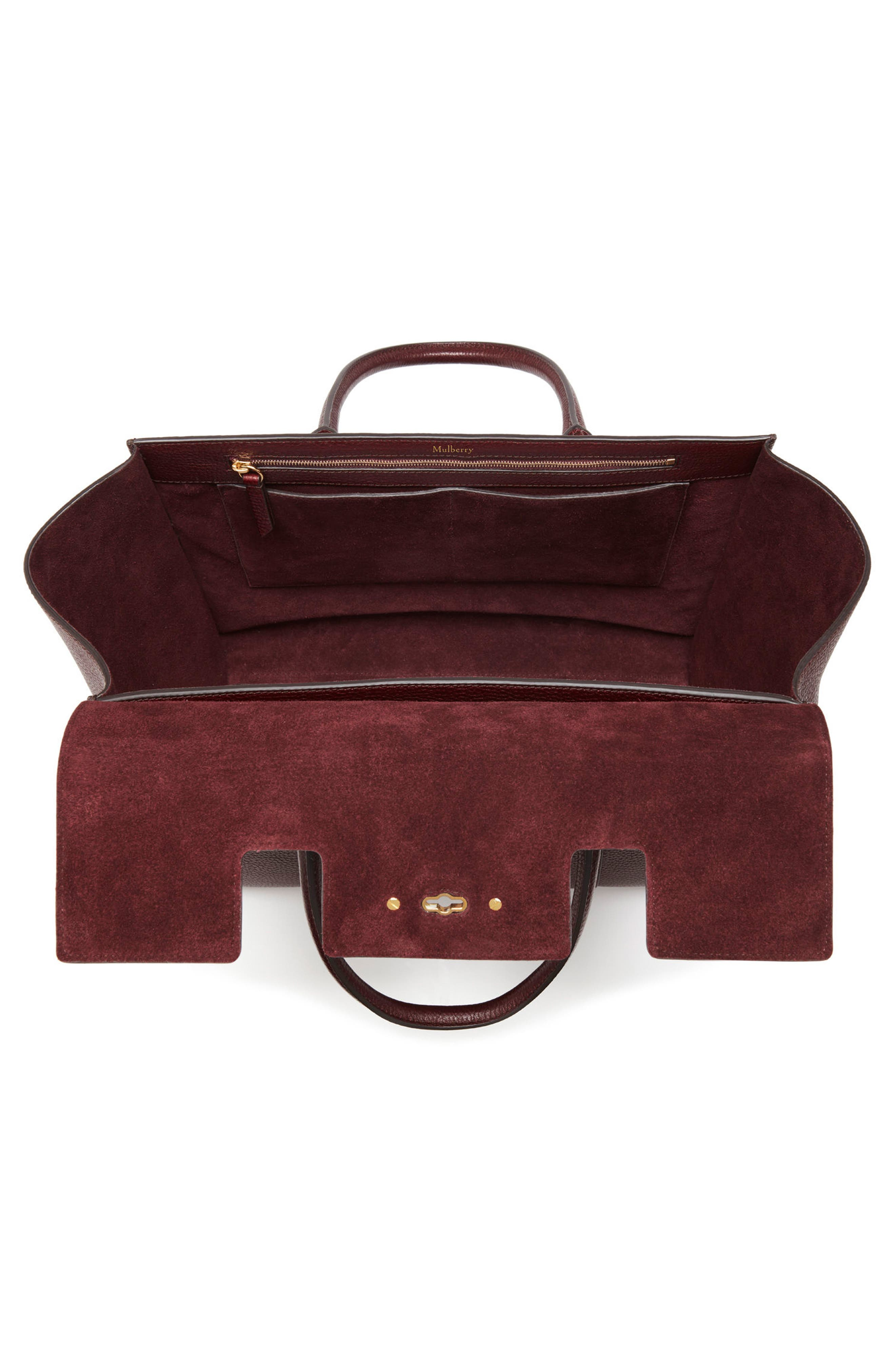 Bayswater Calfskin Leather Satchel,                             Alternate thumbnail 3, color,