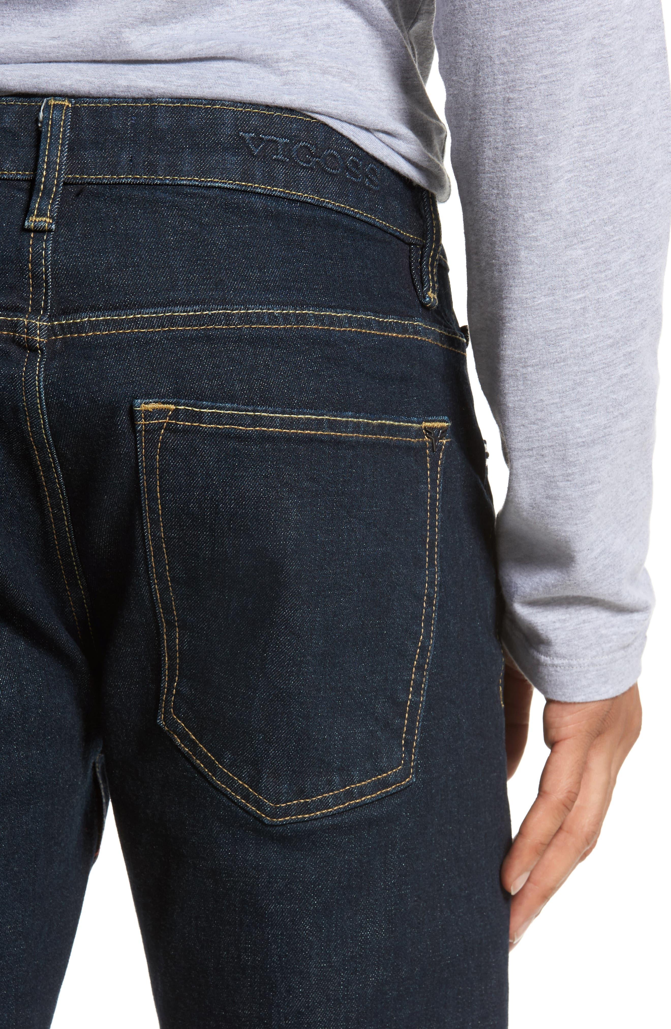 VIGOSS,                             Slim Straight Leg Jeans,                             Alternate thumbnail 5, color,                             DARK RINSE