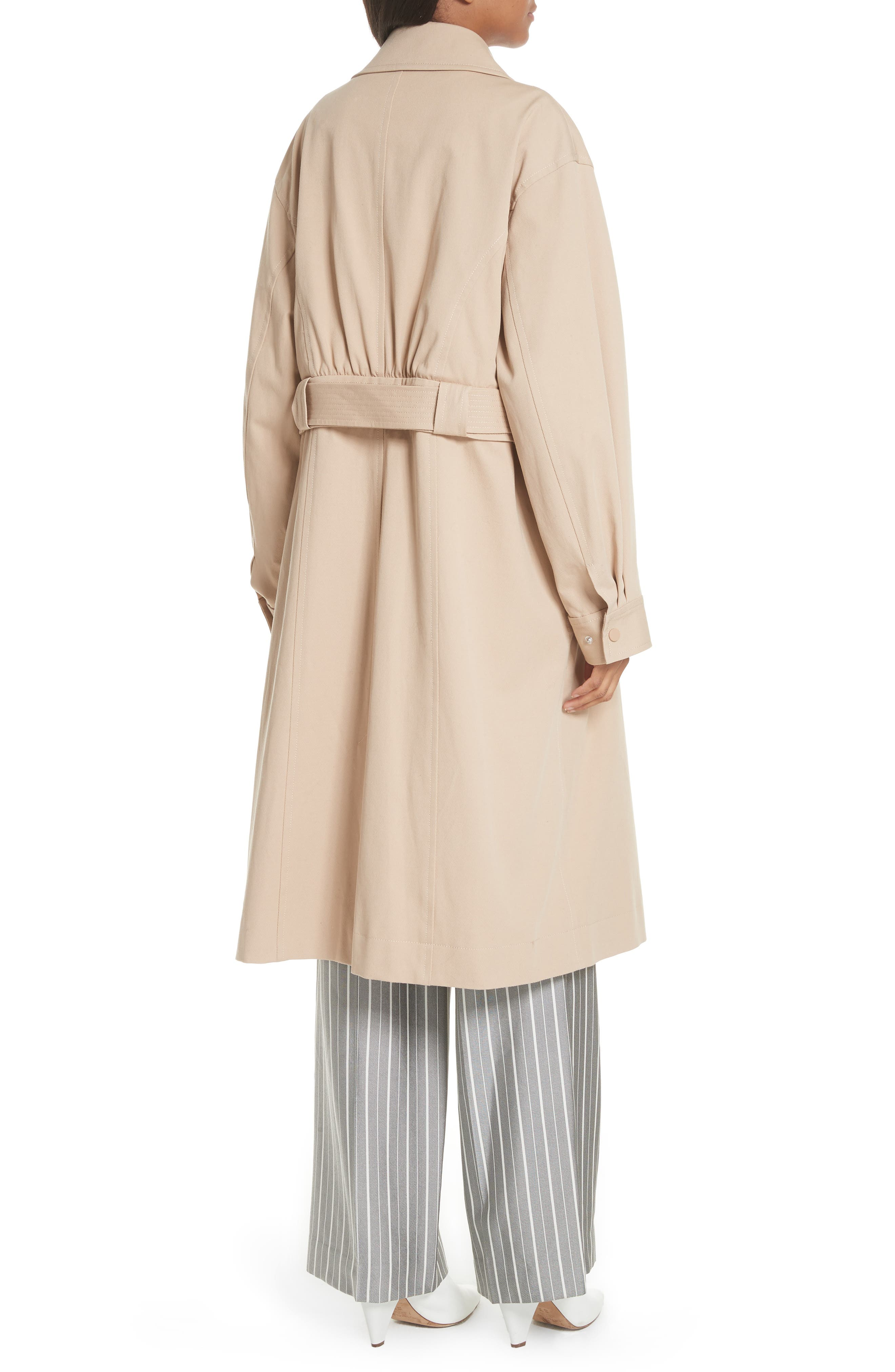 Sailor Stretch Twill Convertible Trench Coat,                             Alternate thumbnail 3, color,                             FAWN