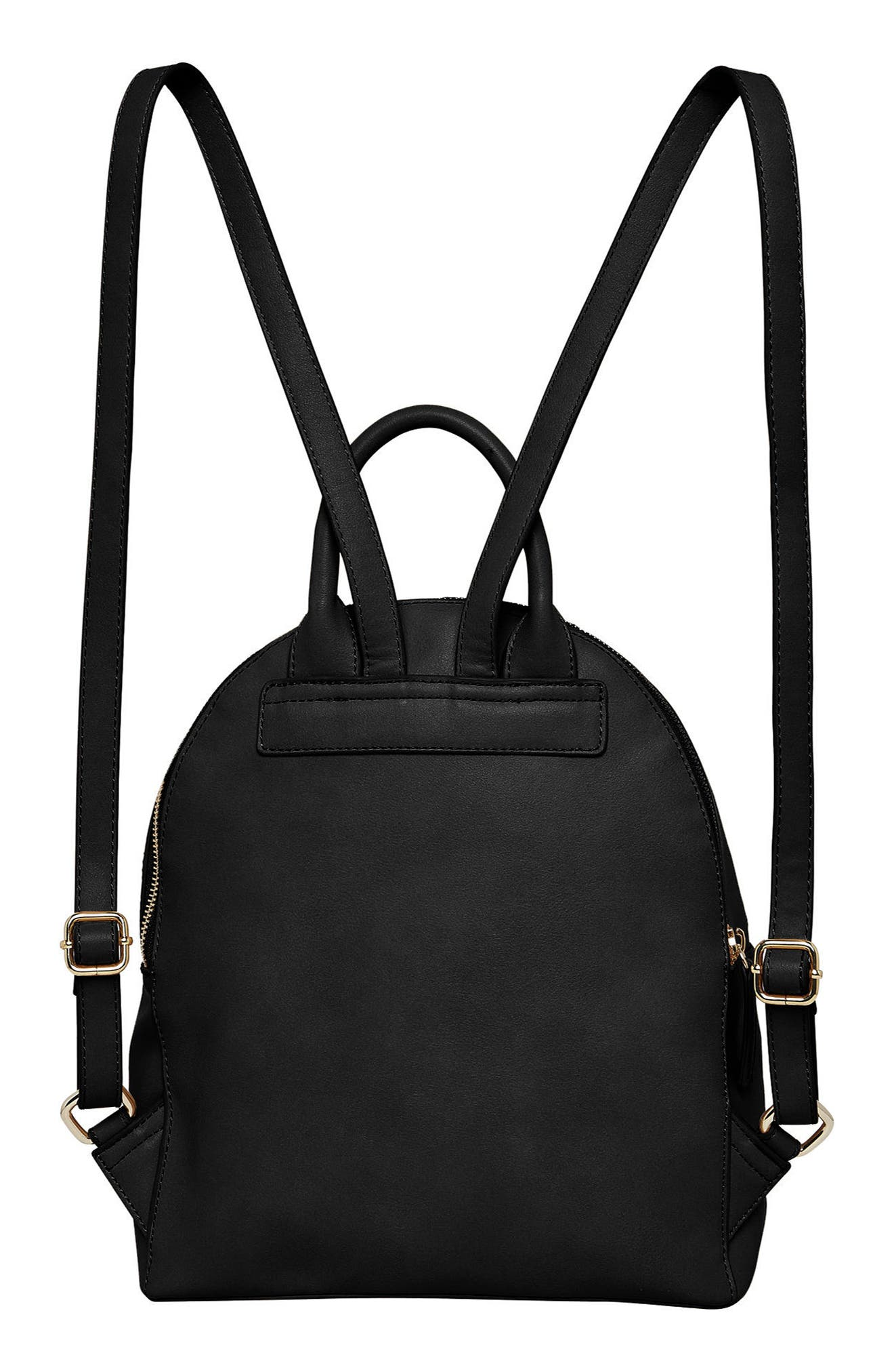 Magic Vegan Leather Backpack,                             Alternate thumbnail 3, color,                             001