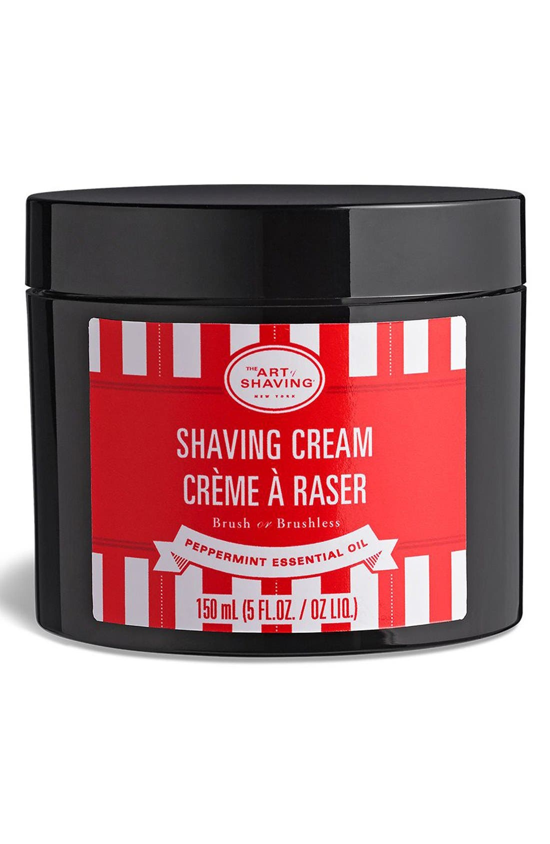 'Peppermint Essential Oil' Shaving Cream,                             Main thumbnail 1, color,                             000