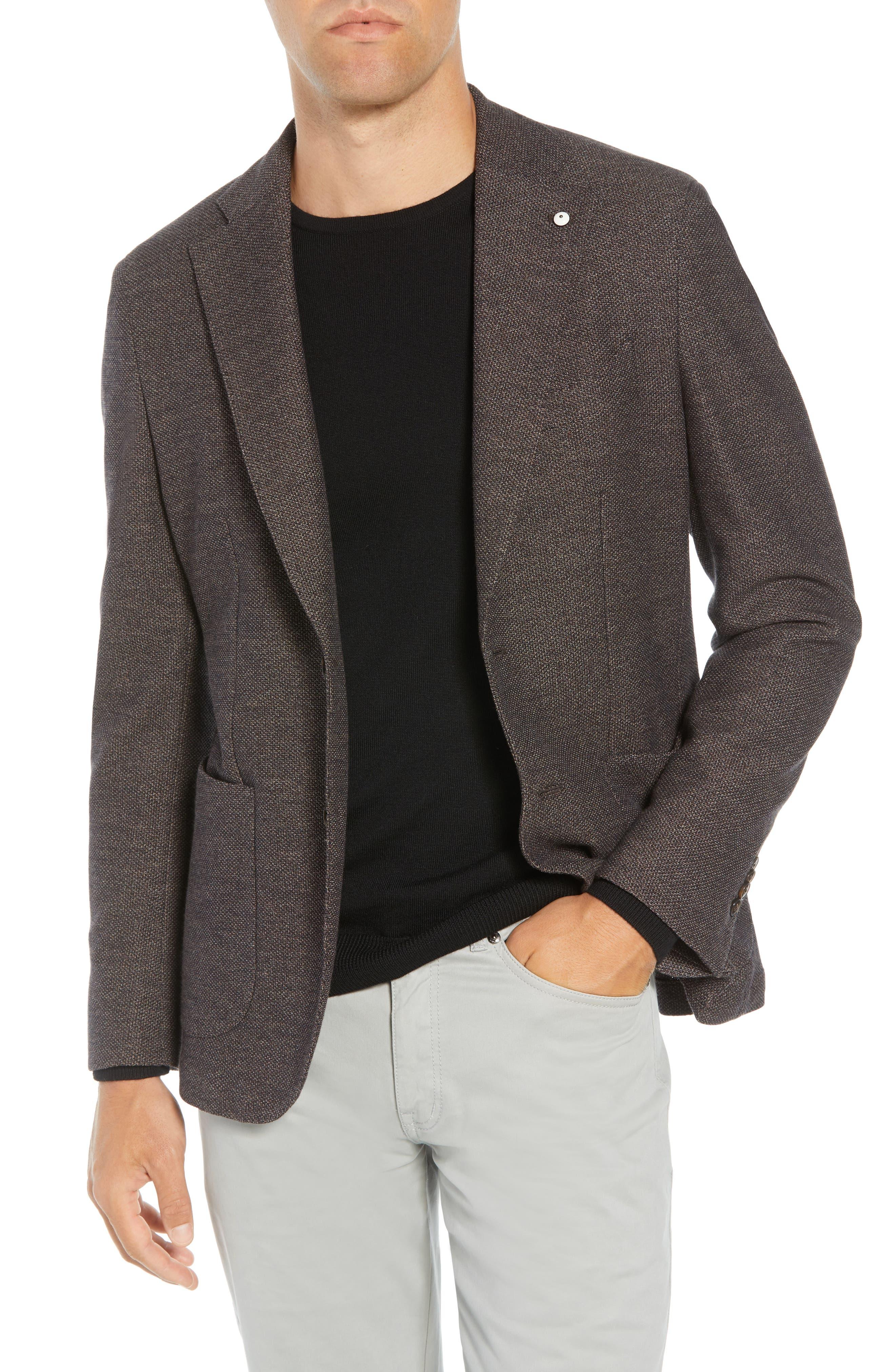 L.B.M L.B.M 1911 Classic Fit Wool & Cotton Sport Coat in Brown