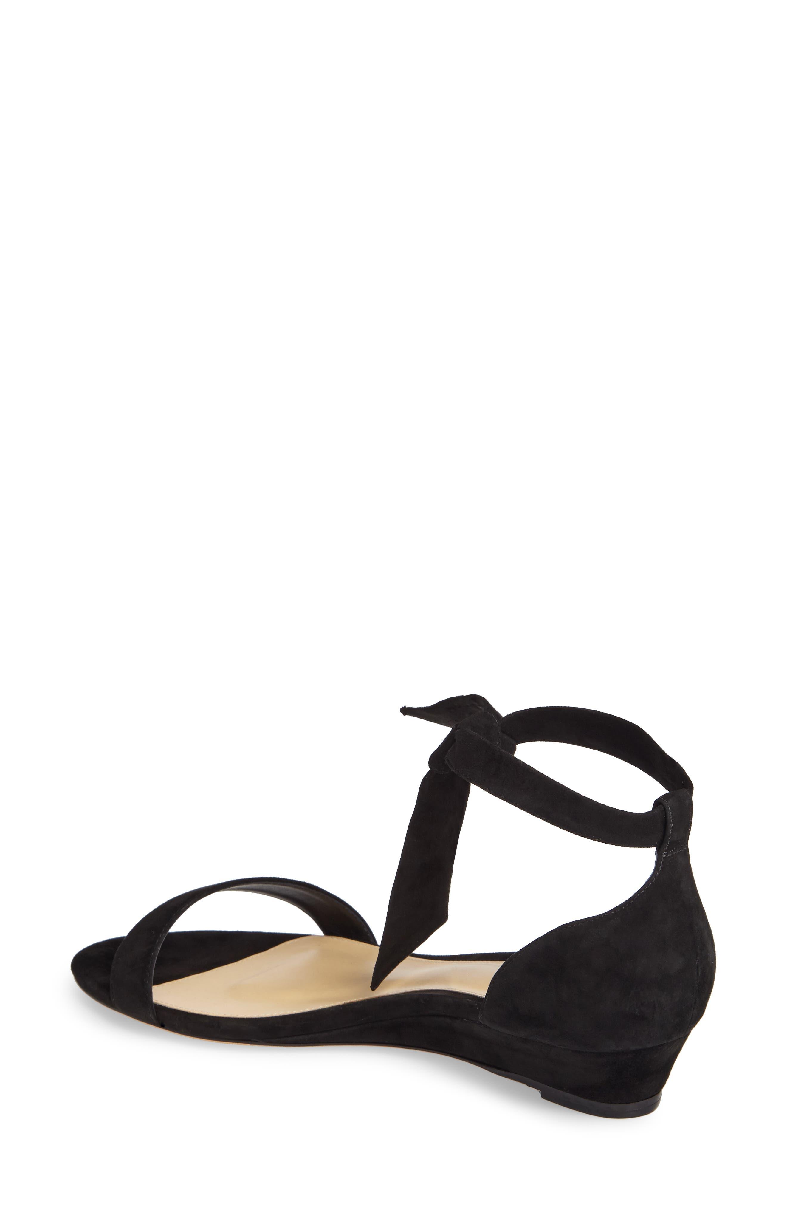 Atena Tie Strap Wedge Sandal,                             Alternate thumbnail 2, color,                             001