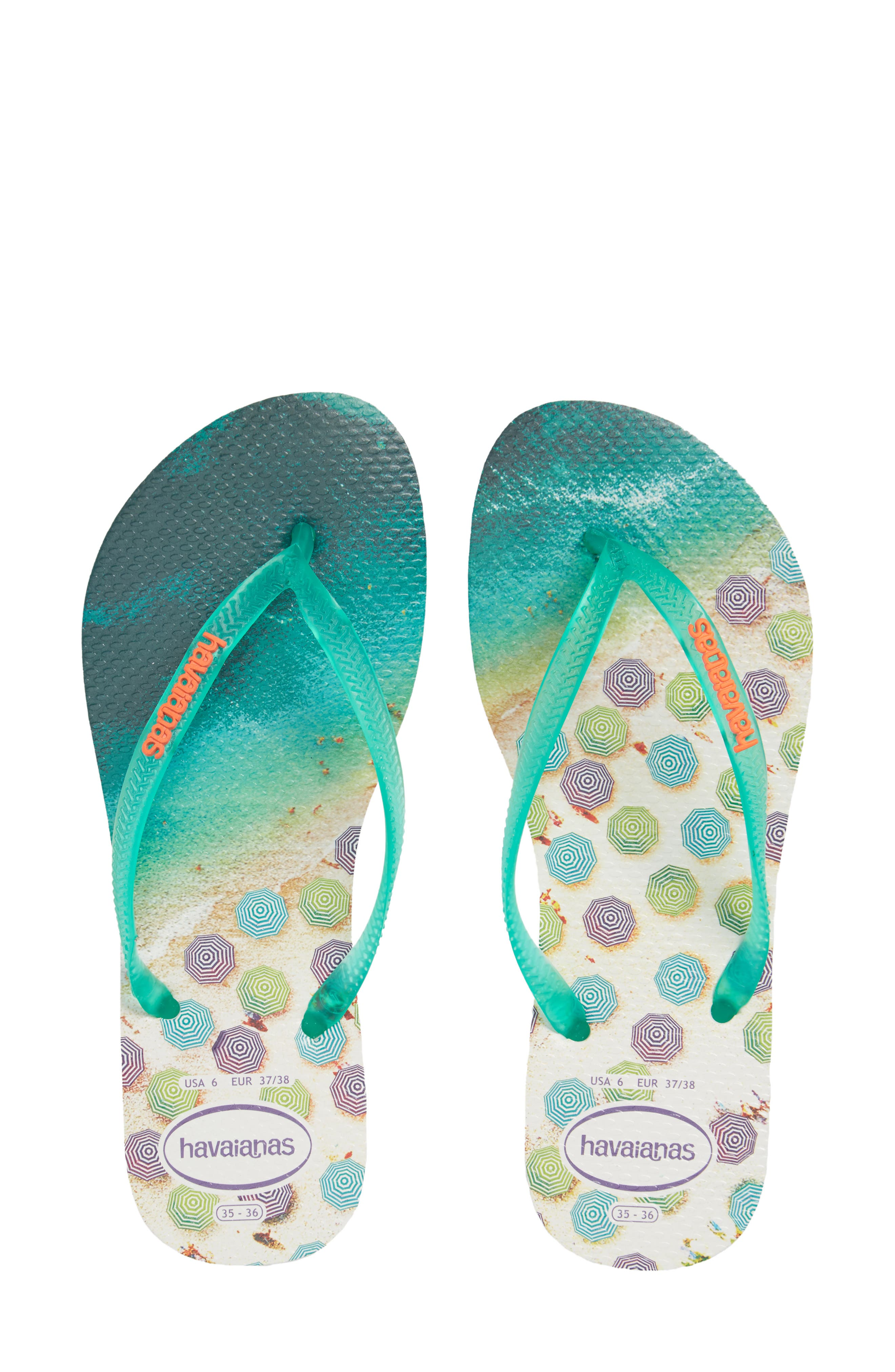 'Slim Paisage' Flip Flop,                         Main,                         color, 301