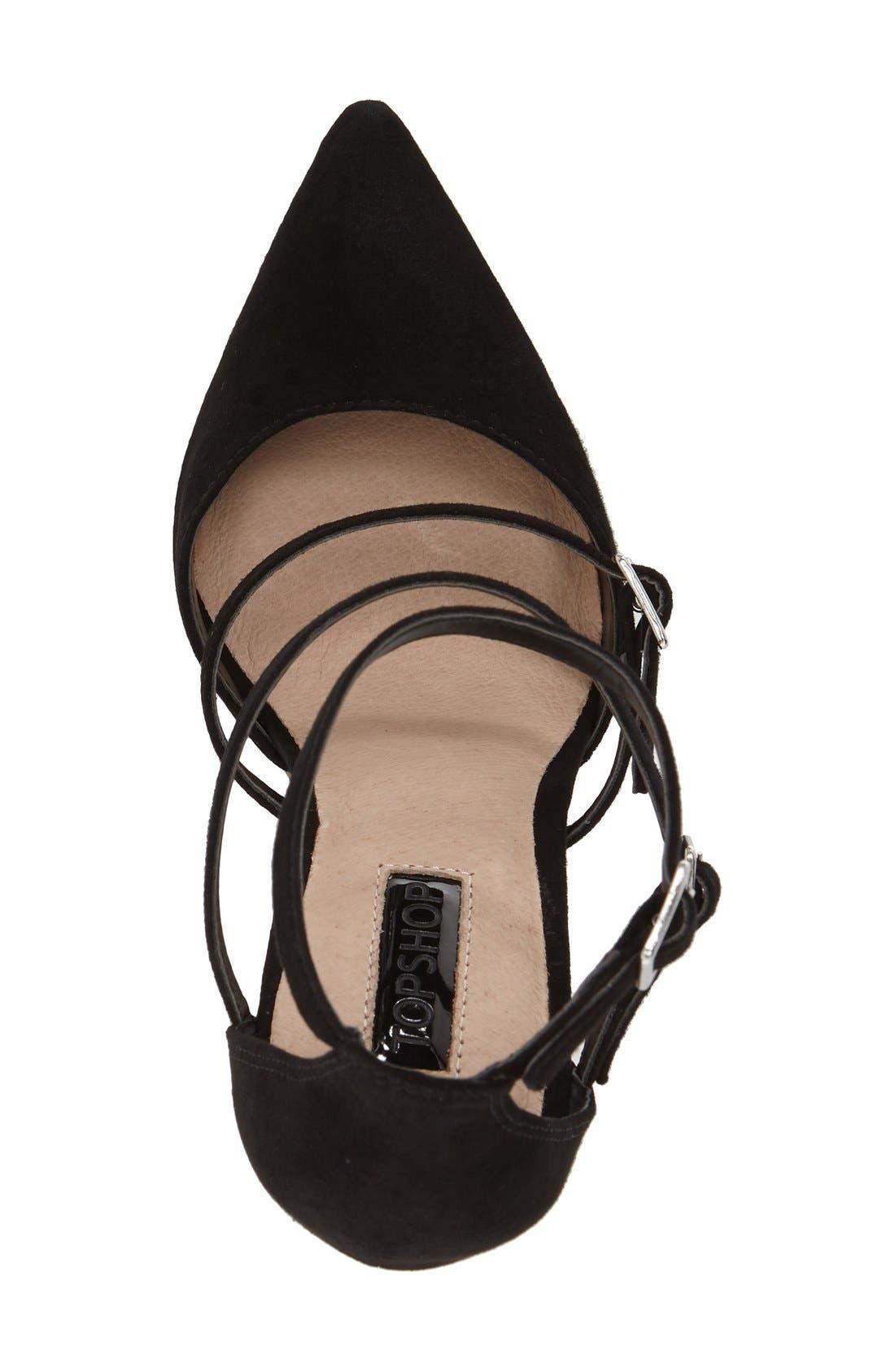 'Giselle' Buckle Sandal,                             Alternate thumbnail 4, color,                             001