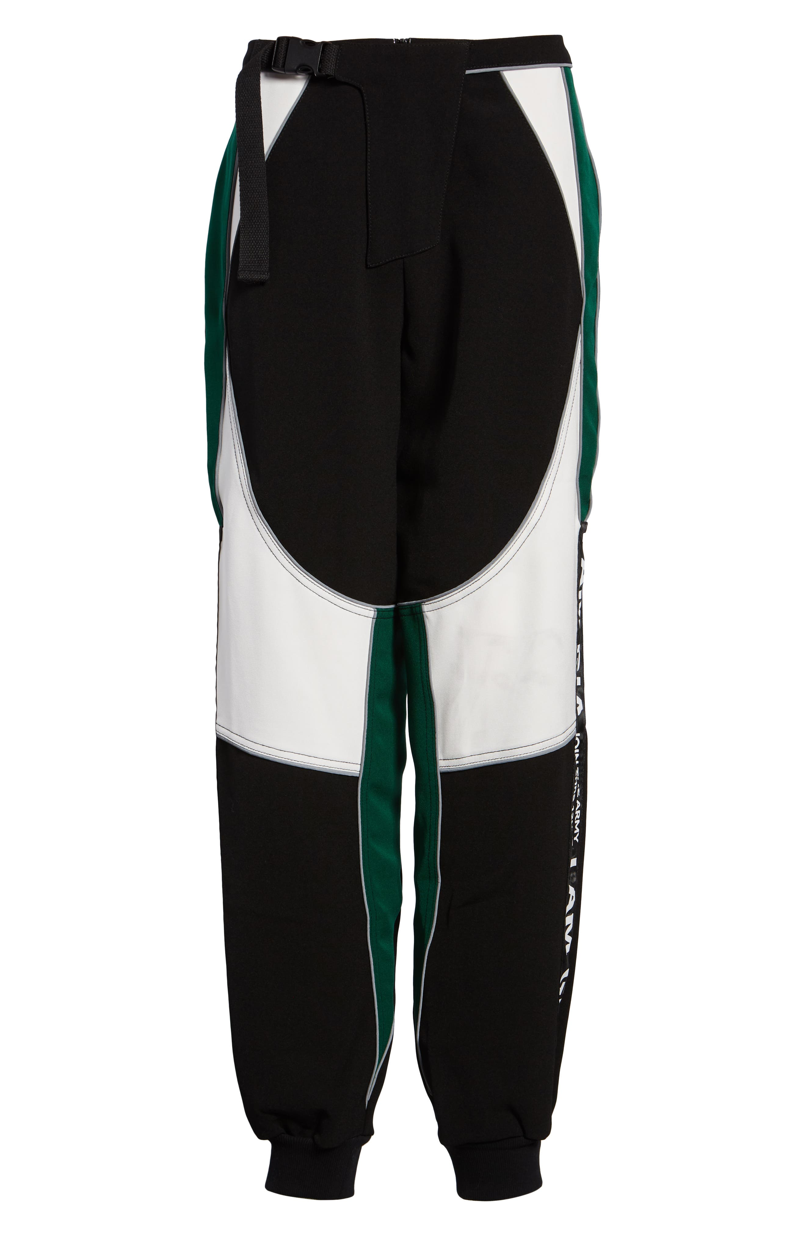 I.AM.GIA Electra Pants,                             Alternate thumbnail 6, color,                             BLACK/ GREEN