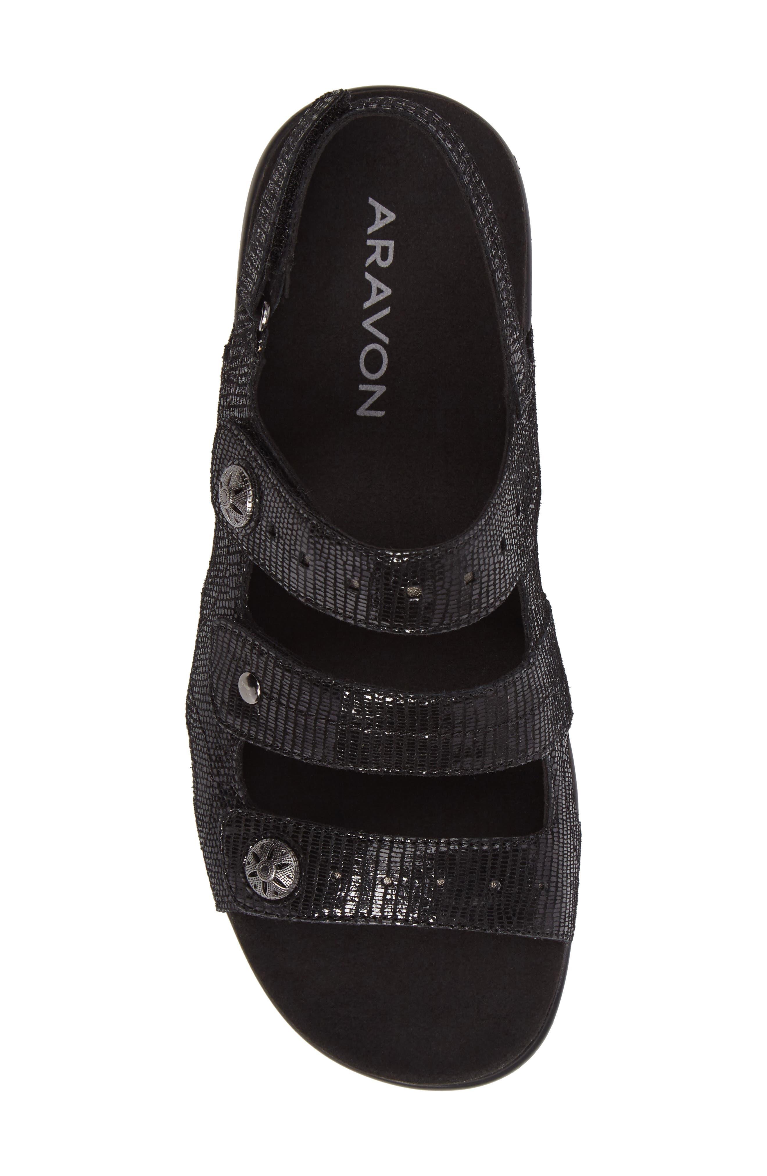PC Wedge Sandal,                             Alternate thumbnail 5, color,                             BLACK FABRIC