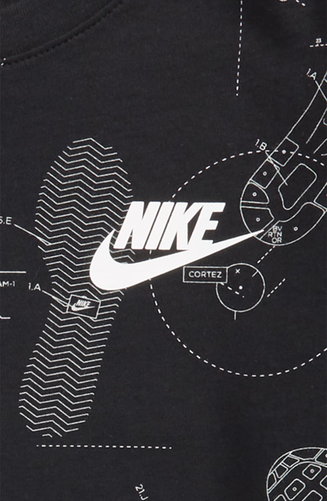 Sportswear Shoeprint Graphic T-Shirt,                             Alternate thumbnail 2, color,                             010