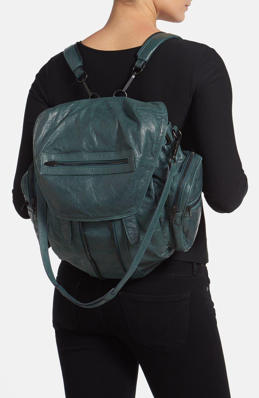 'Marti - Rose Gold' Leather Backpack,                             Alternate thumbnail 8, color,