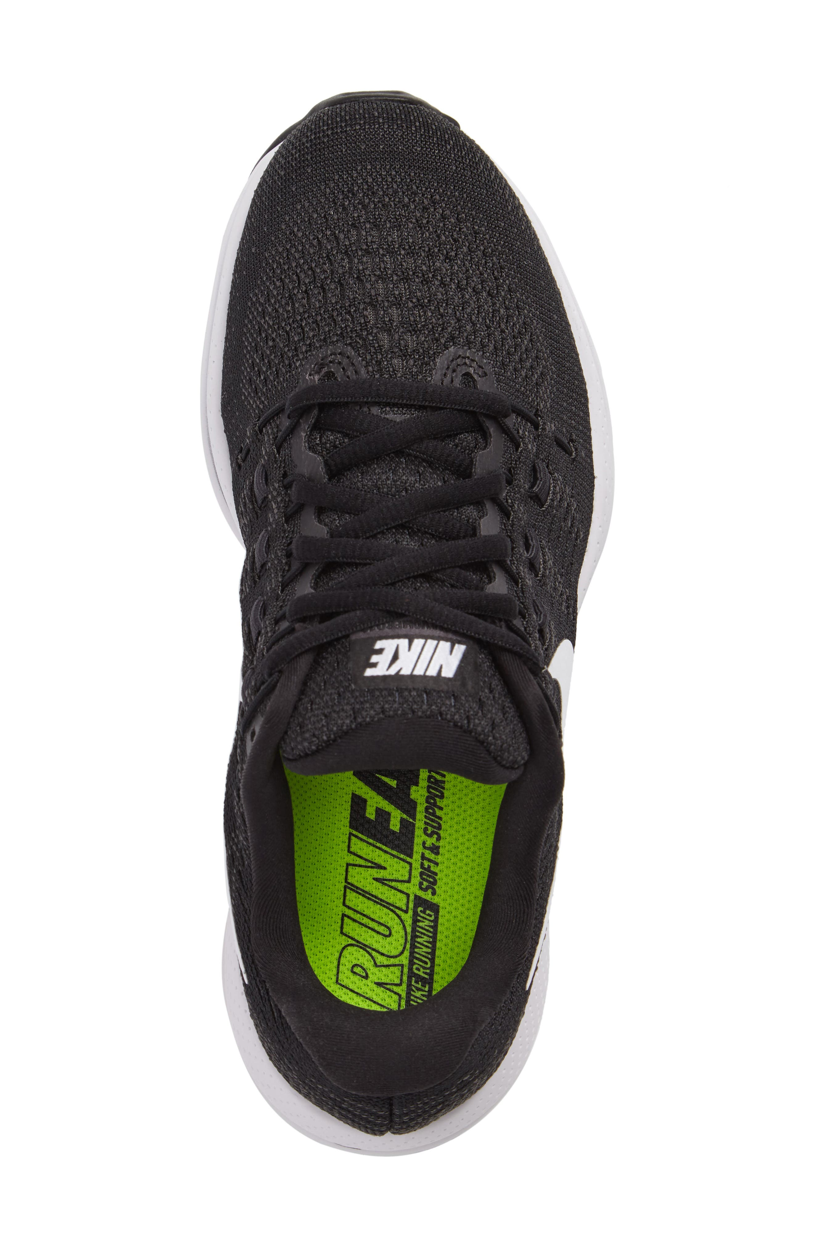 NIKE,                             Air Zoom Vomero 12 Running Shoe,                             Alternate thumbnail 5, color,                             001