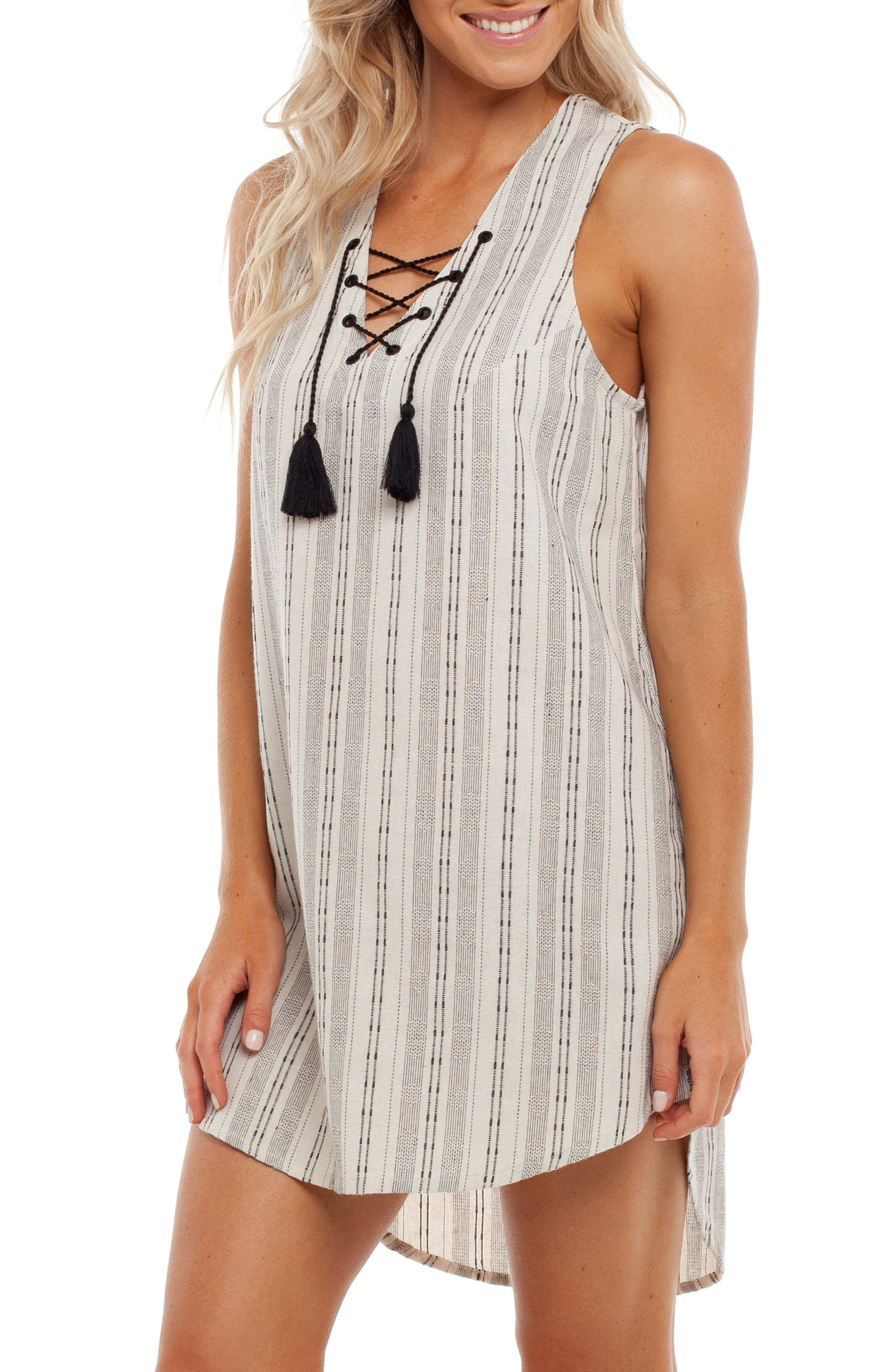 Panama Cover-Up Dress,                             Alternate thumbnail 3, color,                             100
