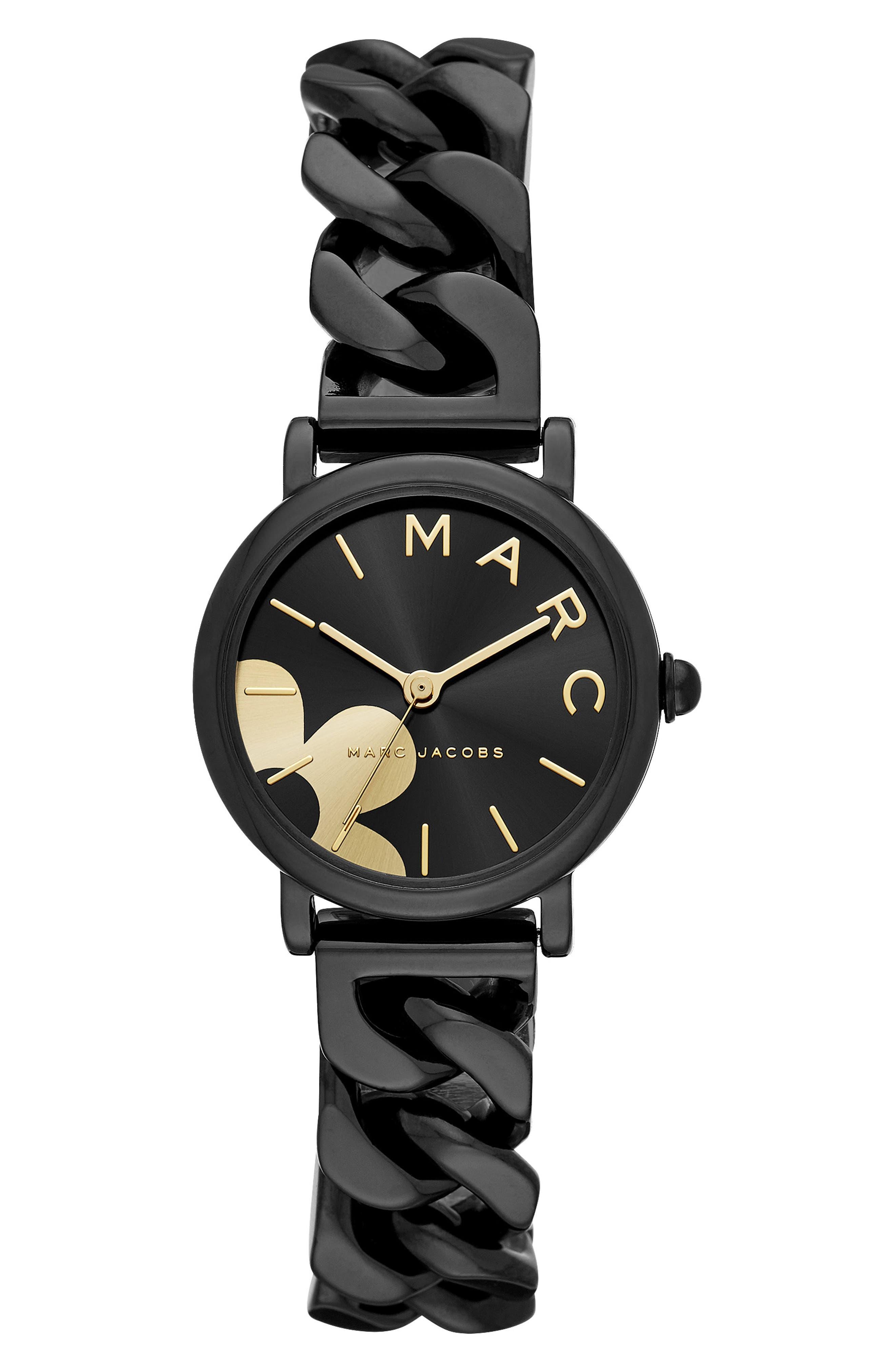 Classic Chain Link Bracelet Watch, 28mm,                             Main thumbnail 1, color,                             001