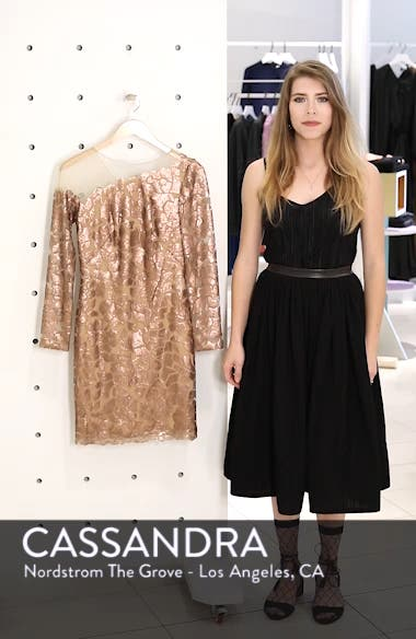 Sequin Illusion Body-Con Dress, sales video thumbnail