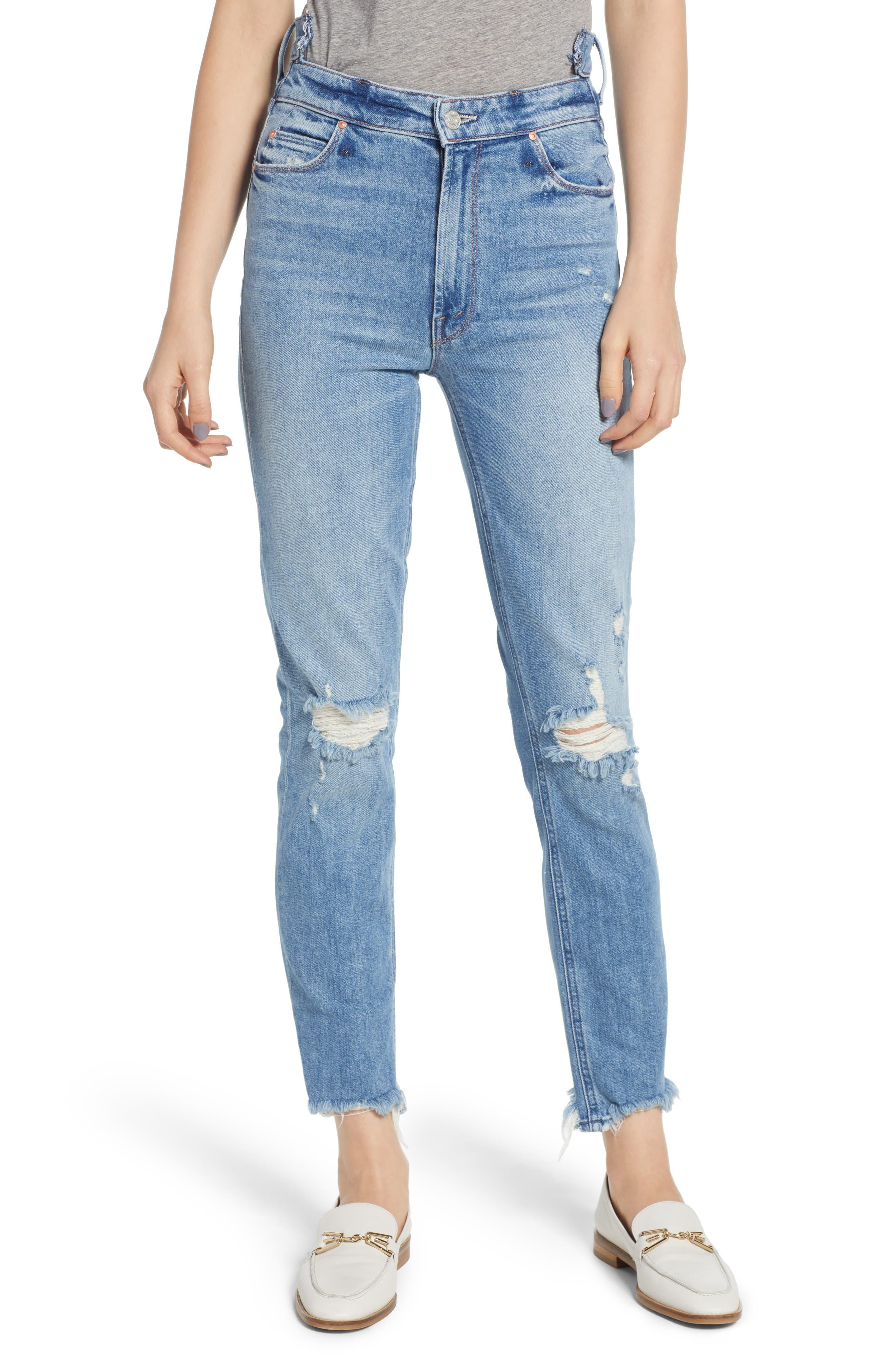Dazzler Shift Step Waistband Jeans,                             Main thumbnail 1, color,                             452